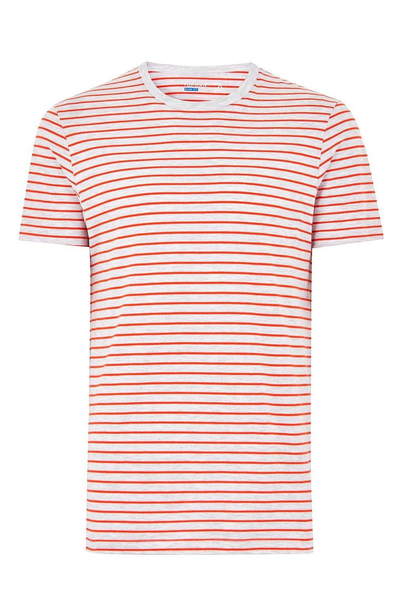 Stripe T-Shirt,                             Alternate thumbnail 3, color,                             Orange Multi
