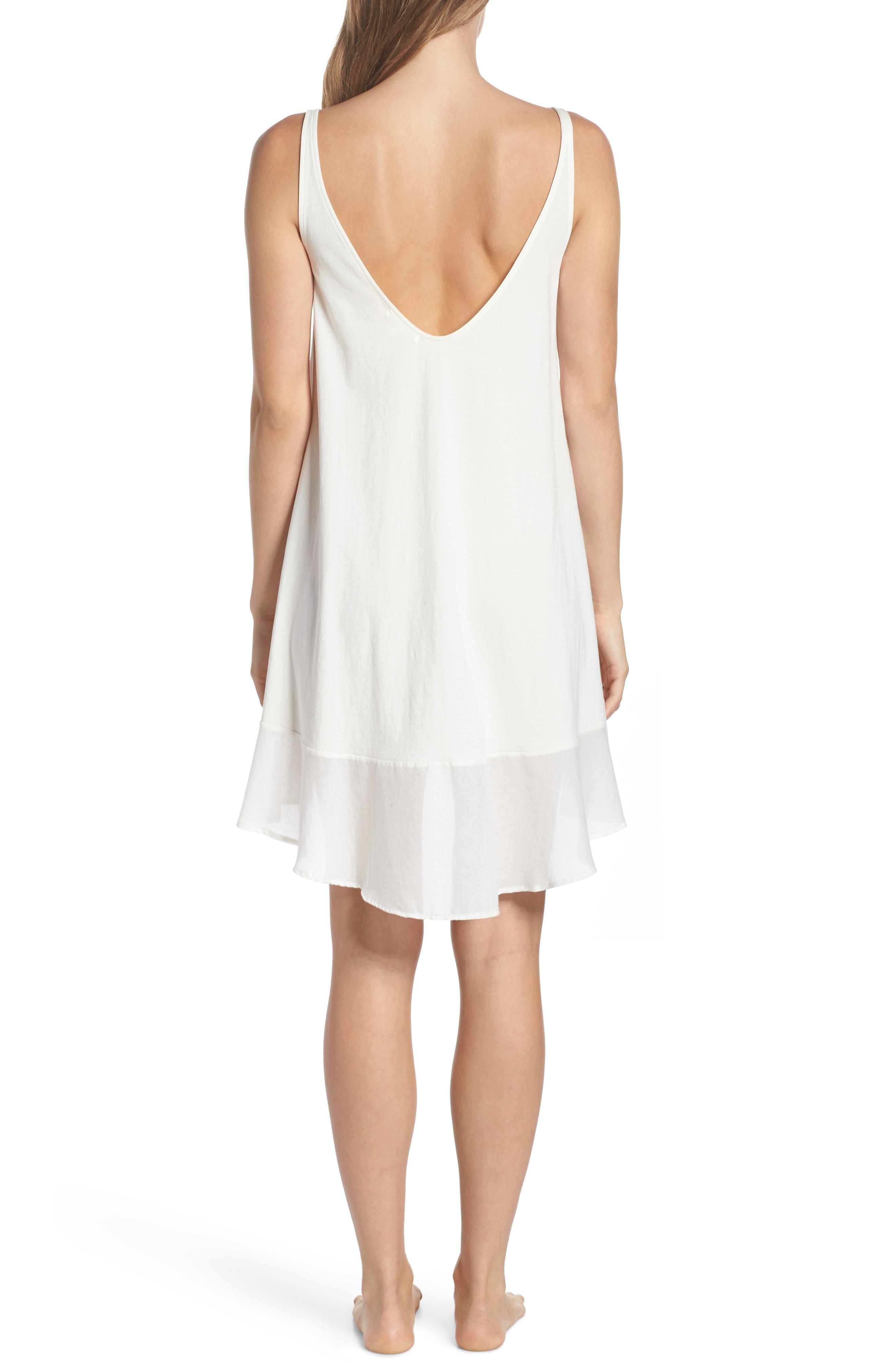 Bettina Pima Cotton Voile Nightgown,                             Alternate thumbnail 2, color,                             Gardenia