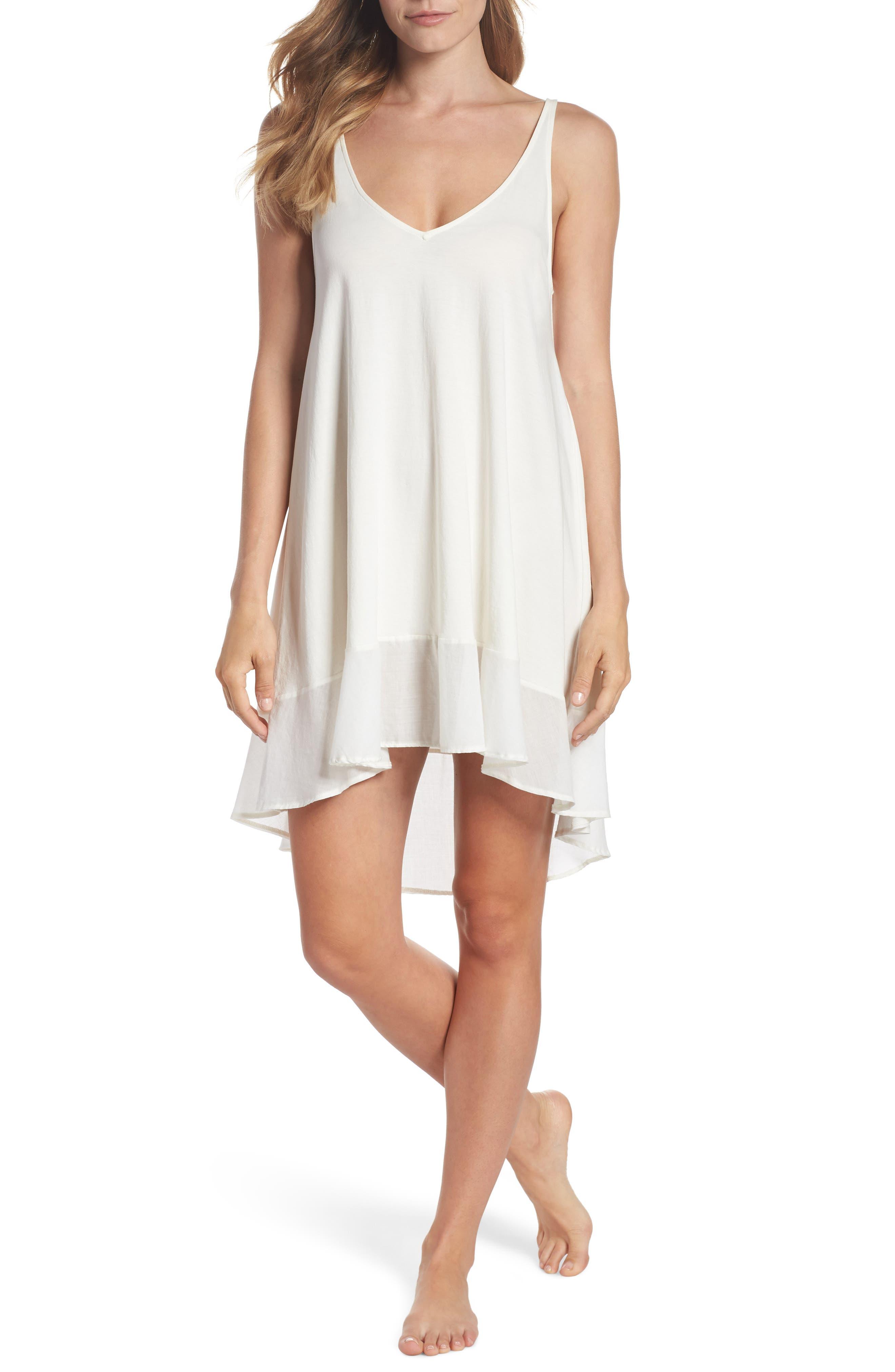 Bettina Pima Cotton Voile Nightgown,                         Main,                         color, Gardenia