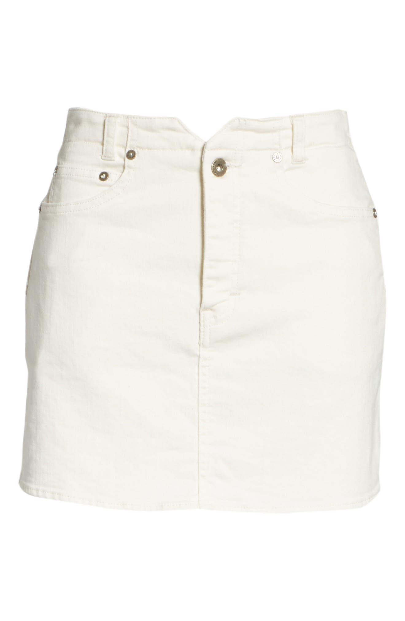 She's All That Denim Skirt,                             Alternate thumbnail 6, color,                             White