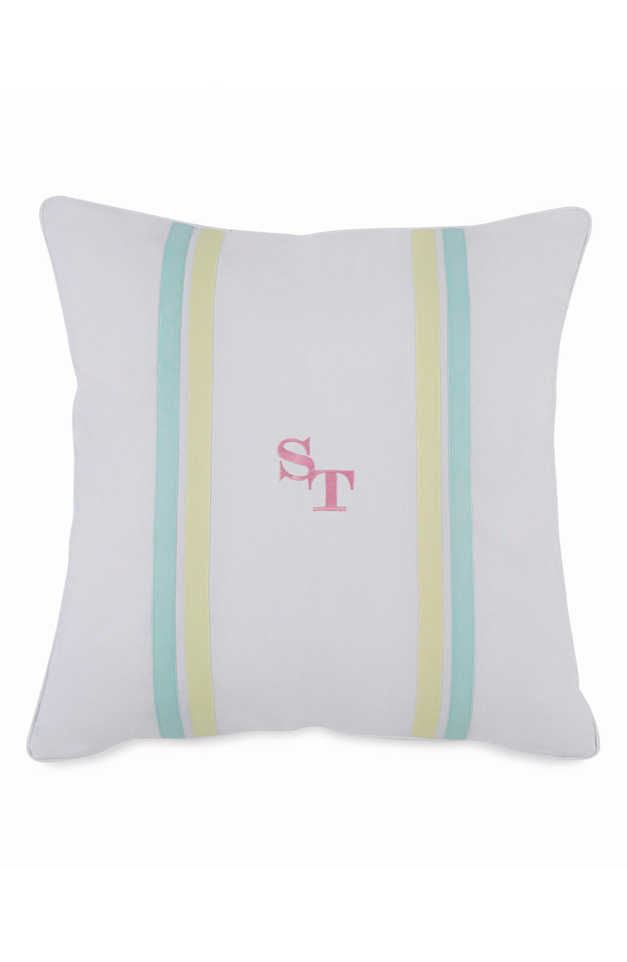 Tropical Retreat Accent Pillow,                             Main thumbnail 1, color,                             White Multi