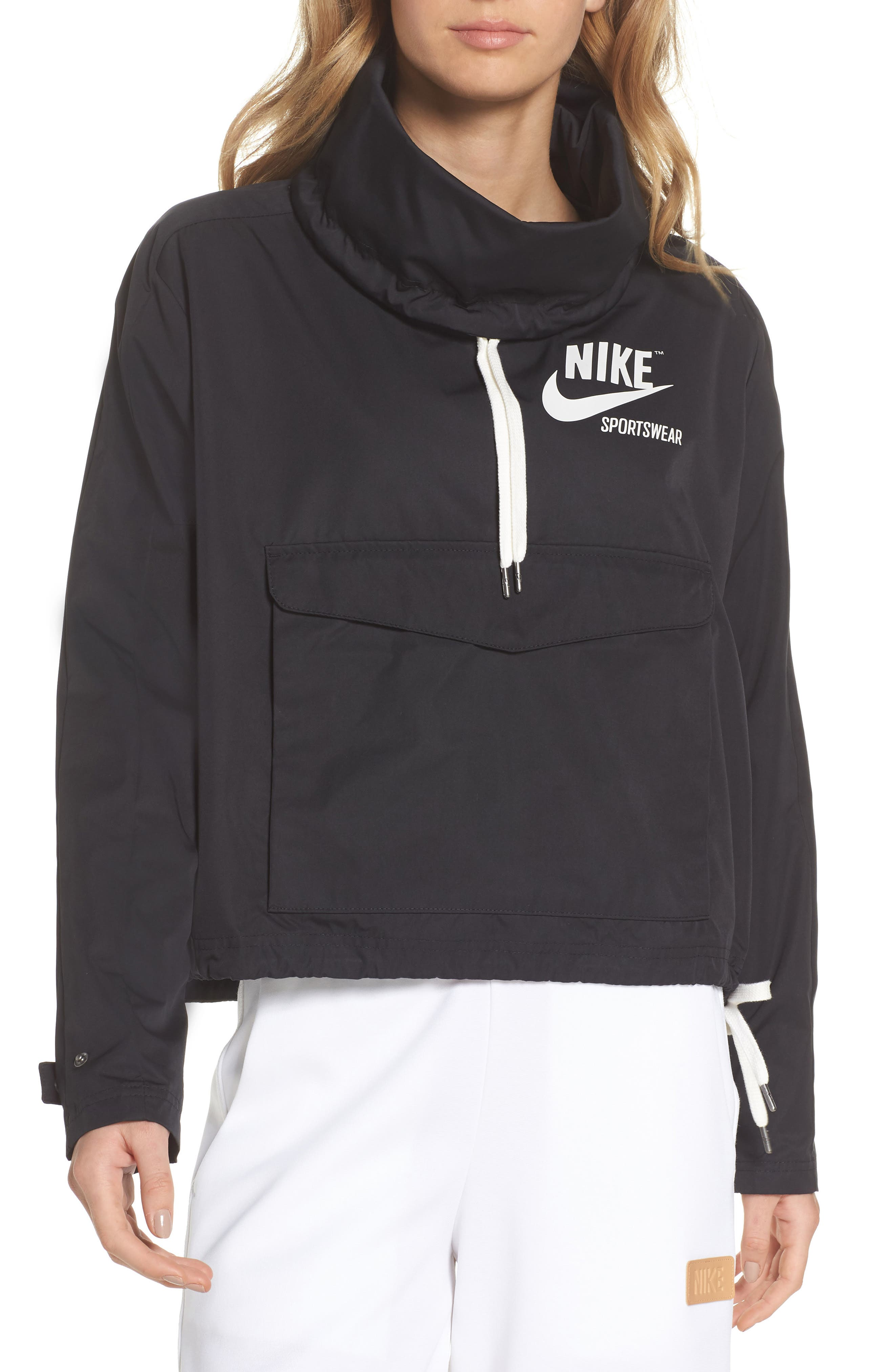 Sportswear Archive Jacket,                             Main thumbnail 1, color,                             Black/ Black