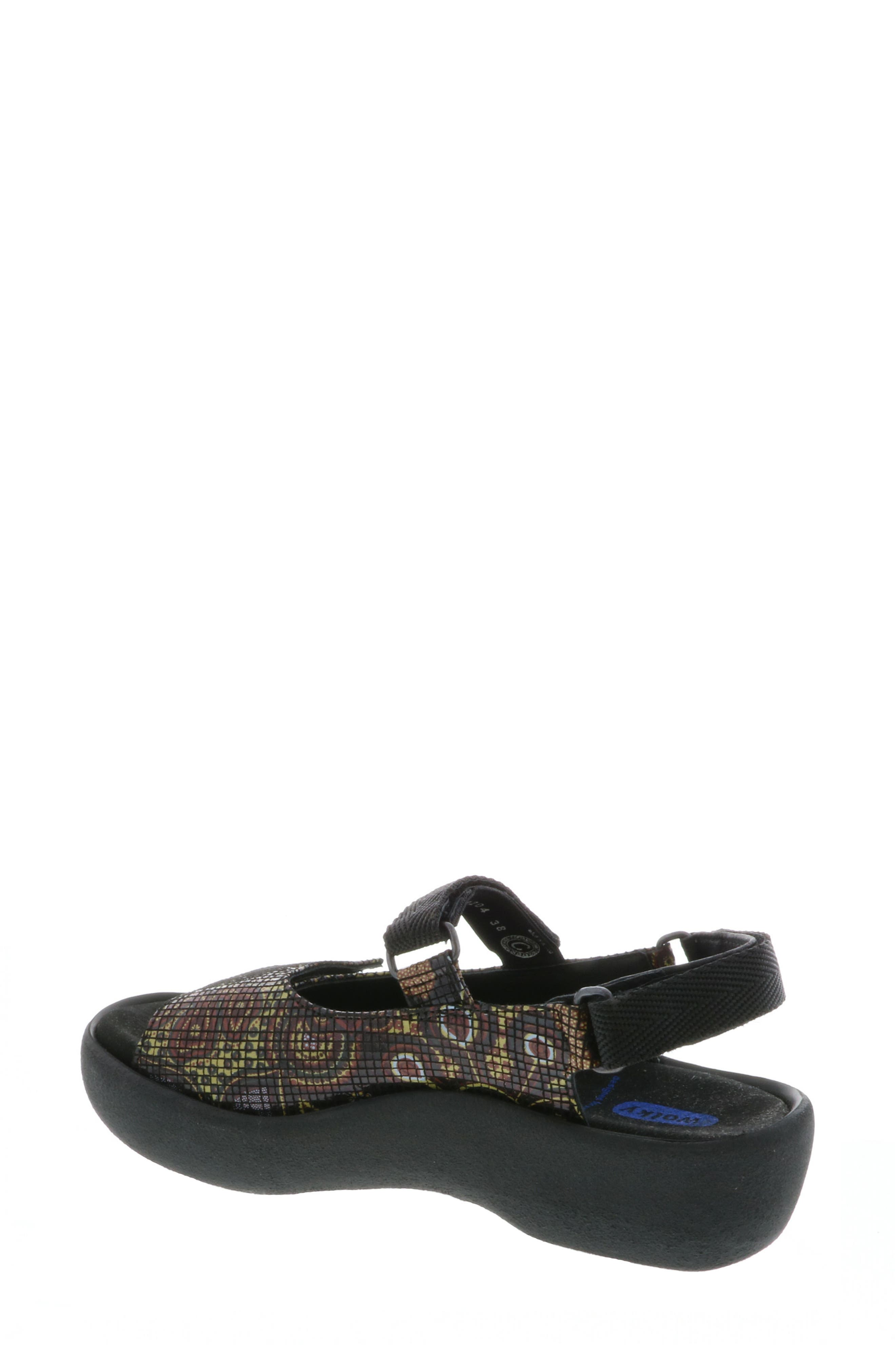 Jewel Sport Sandal,                             Alternate thumbnail 2, color,                             Black Flower Print
