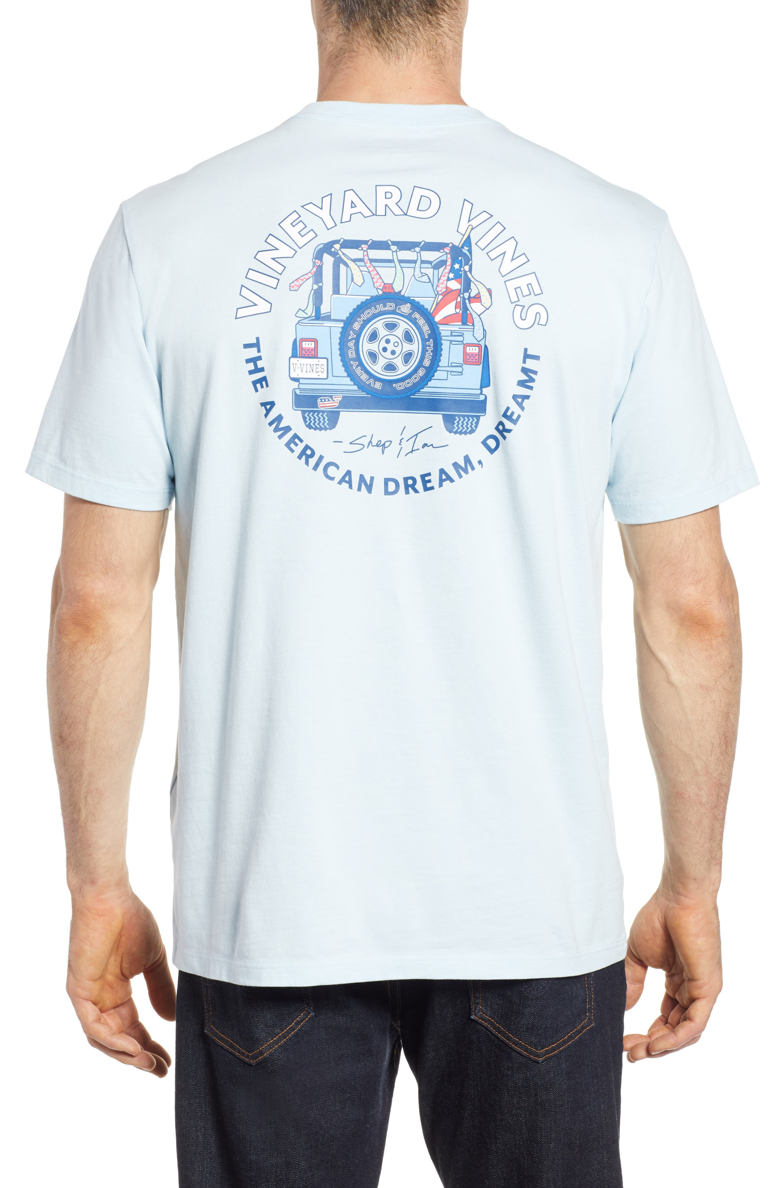 American Dream Logo T-Shirt,                             Alternate thumbnail 2, color,                             Surf Blue