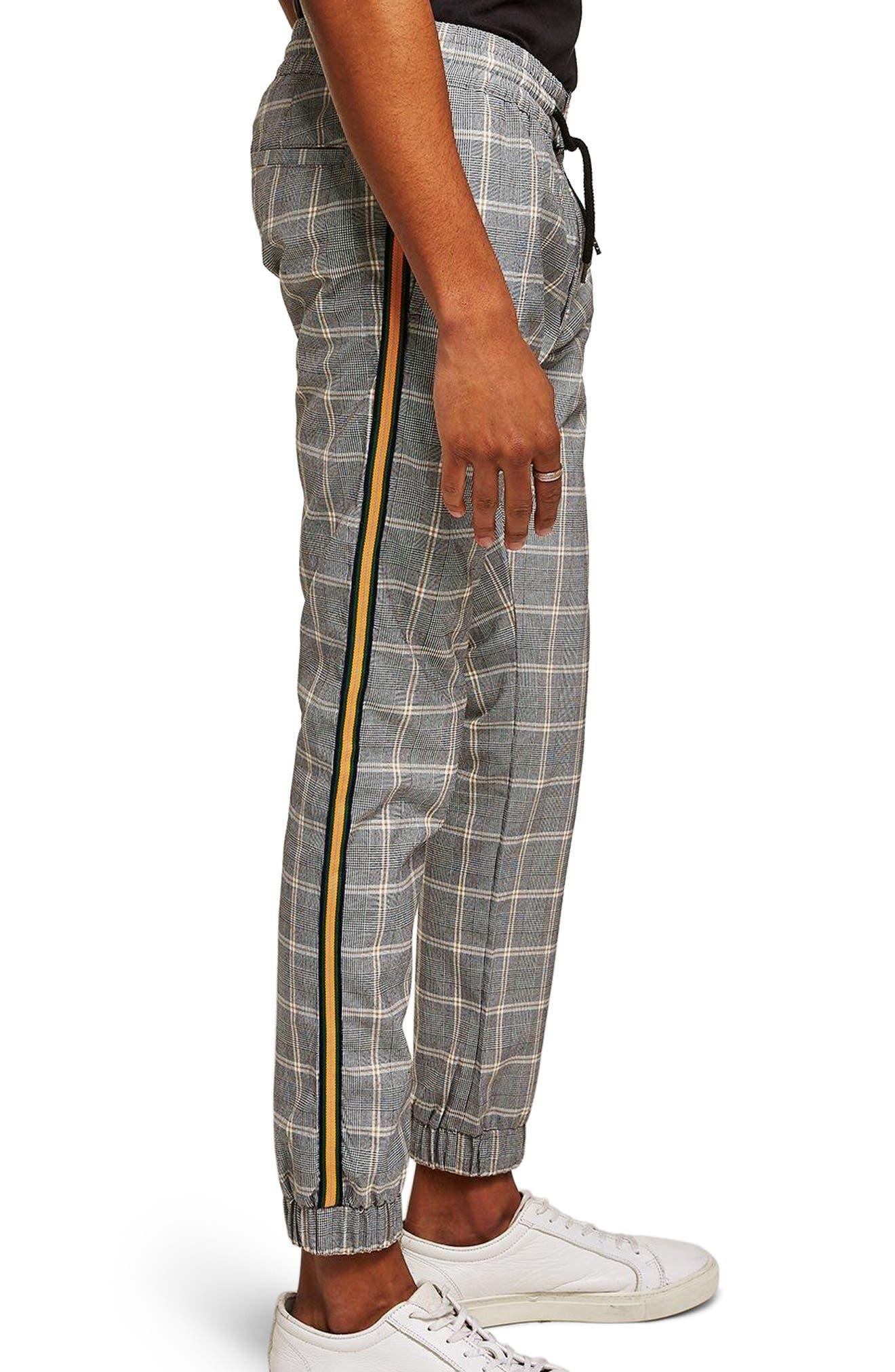 Check Skinny Fit Jogger Pants,                             Main thumbnail 1, color,                             Stone