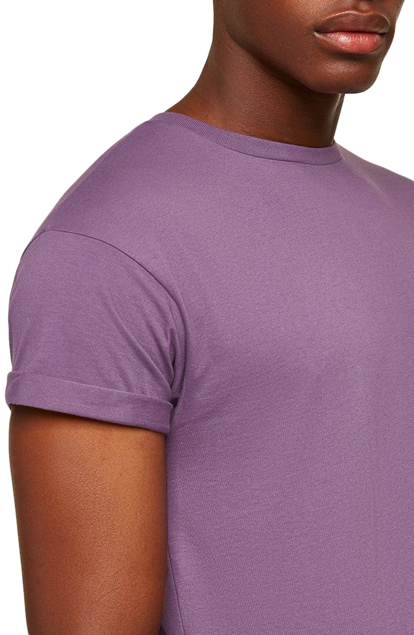 Muscle Fit Roller T-Shirt,                             Alternate thumbnail 3, color,                             Medium Purple