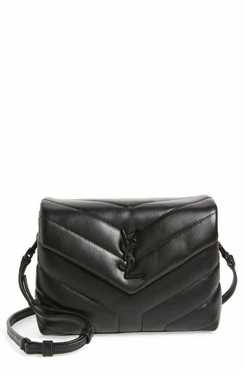 7f5e85e6b935 Saint Laurent Toy Loulou Leather Crossbody Bag
