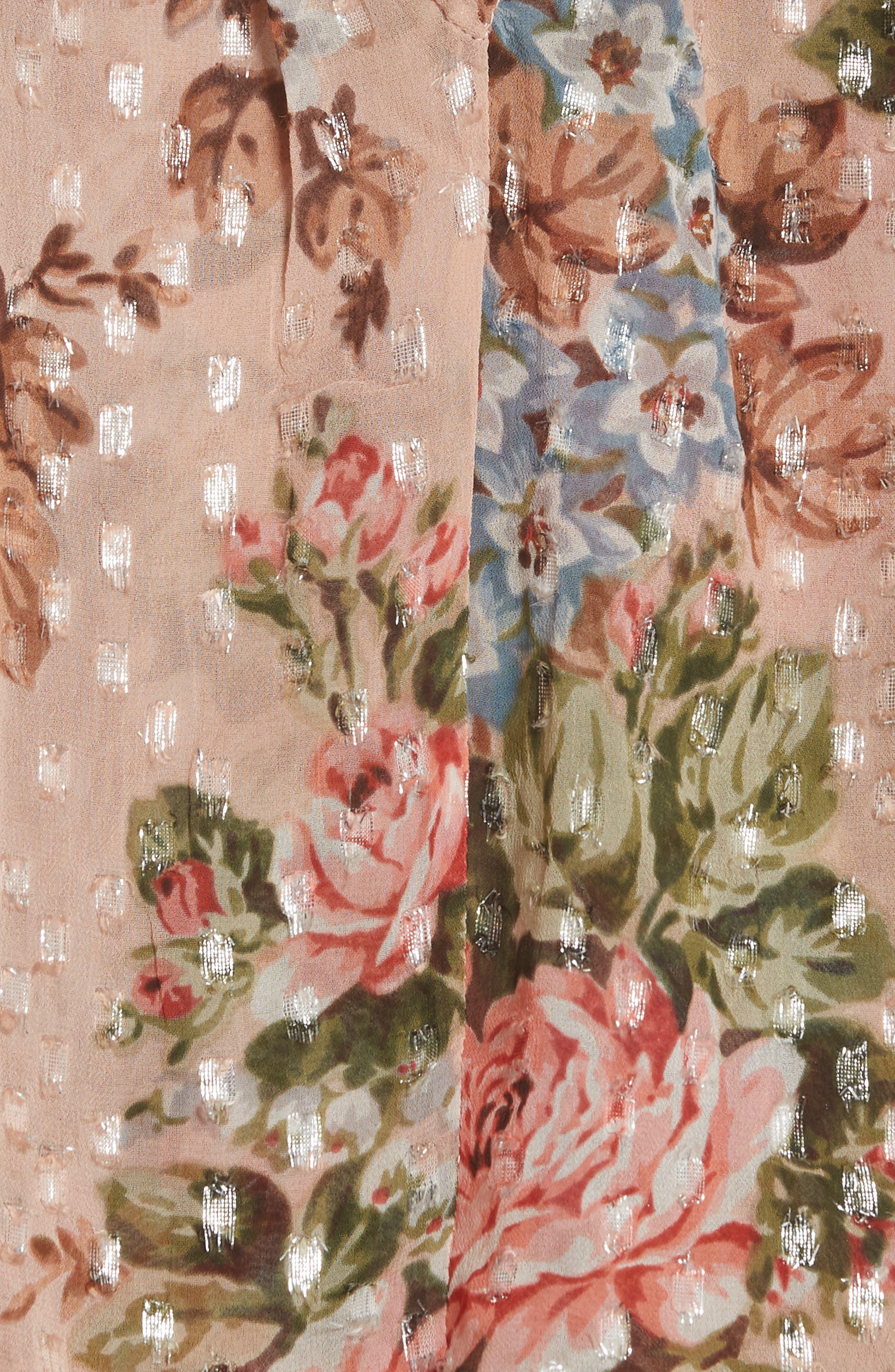 Paradise Rose Shimmer Top,                             Alternate thumbnail 5, color,                             Rose Quartz