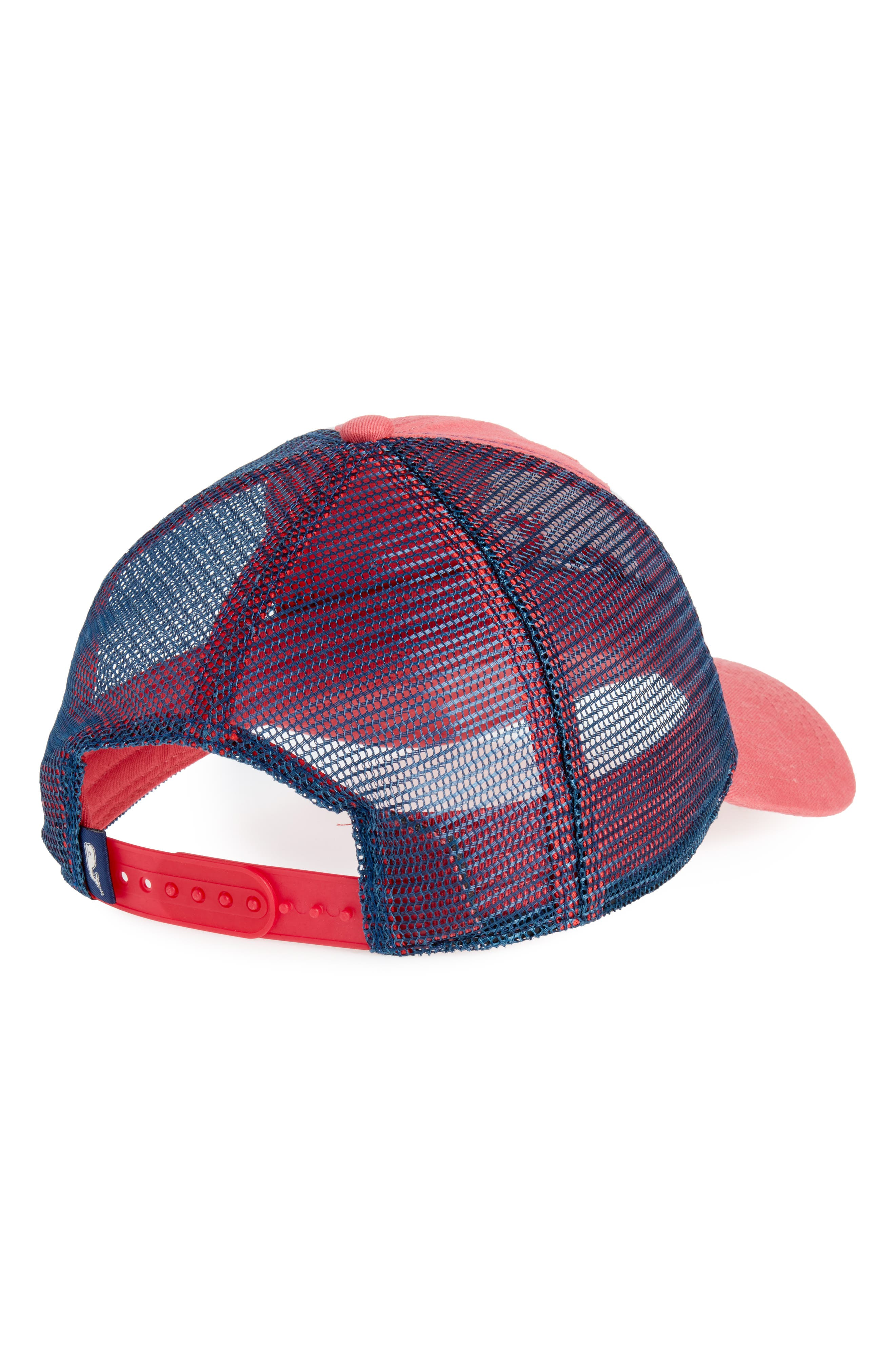 Low Pro Marlin Trucker Cap,                             Alternate thumbnail 2, color,                             Jetty Red