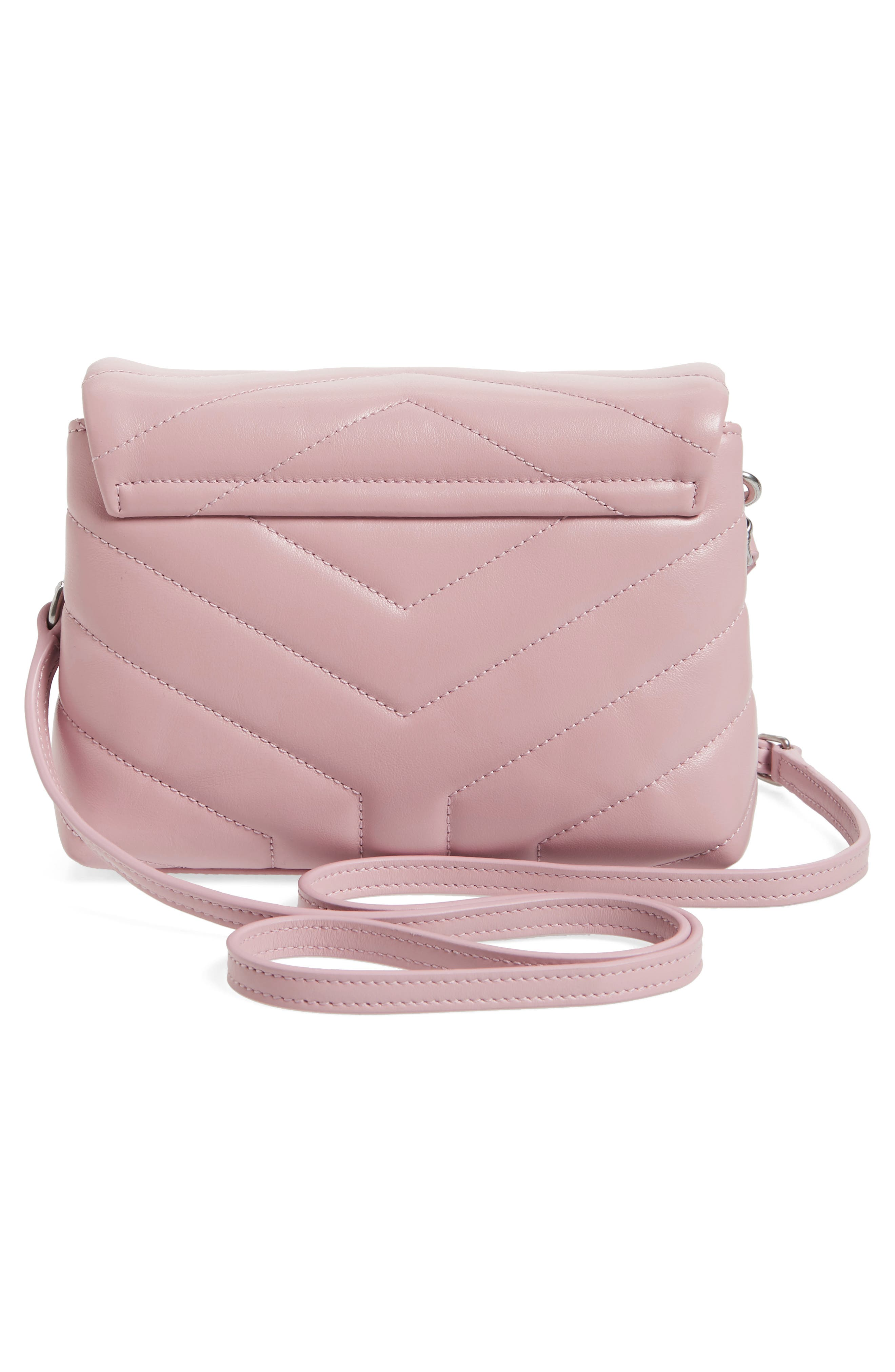 Toy LouLou Calfskin Leather Crossbody Bag,                             Alternate thumbnail 3, color,                             Tender Pink