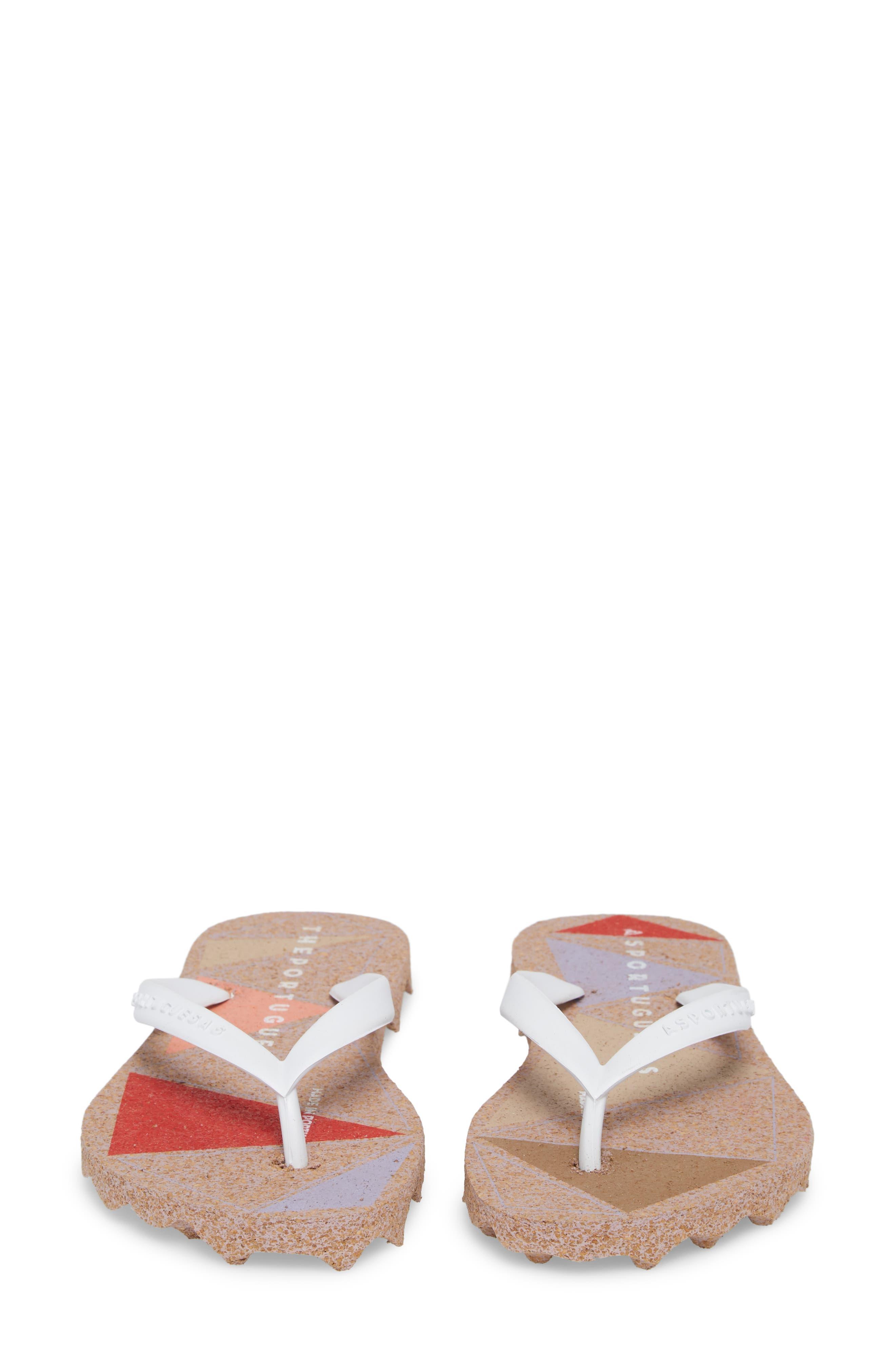 Spot 002 Flip Flop,                             Alternate thumbnail 5, color,                             White/ Rose Fabric