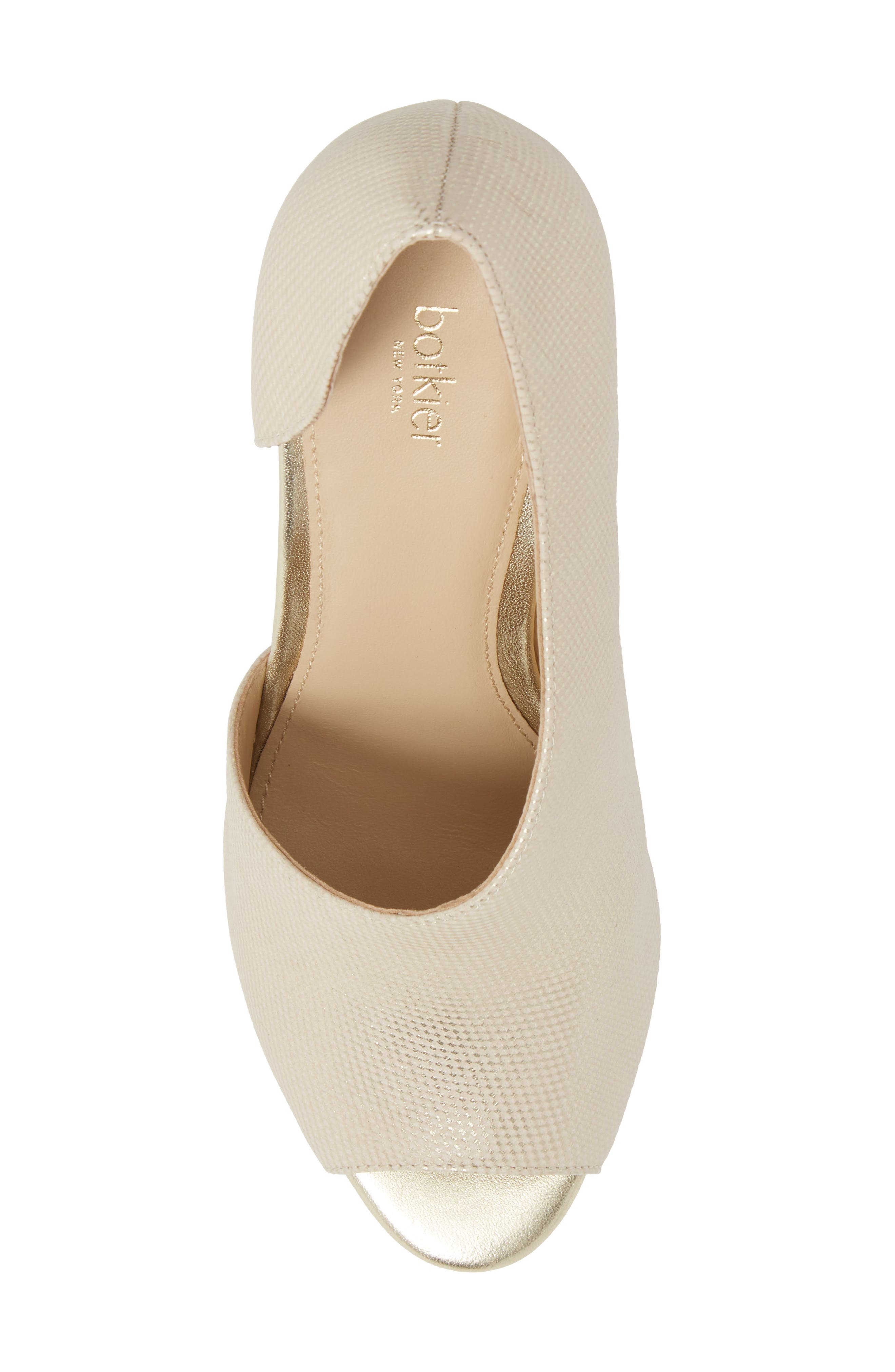 Adelia Asymmetrical Sandal,                             Alternate thumbnail 5, color,                             Gold Shimmer Fabric