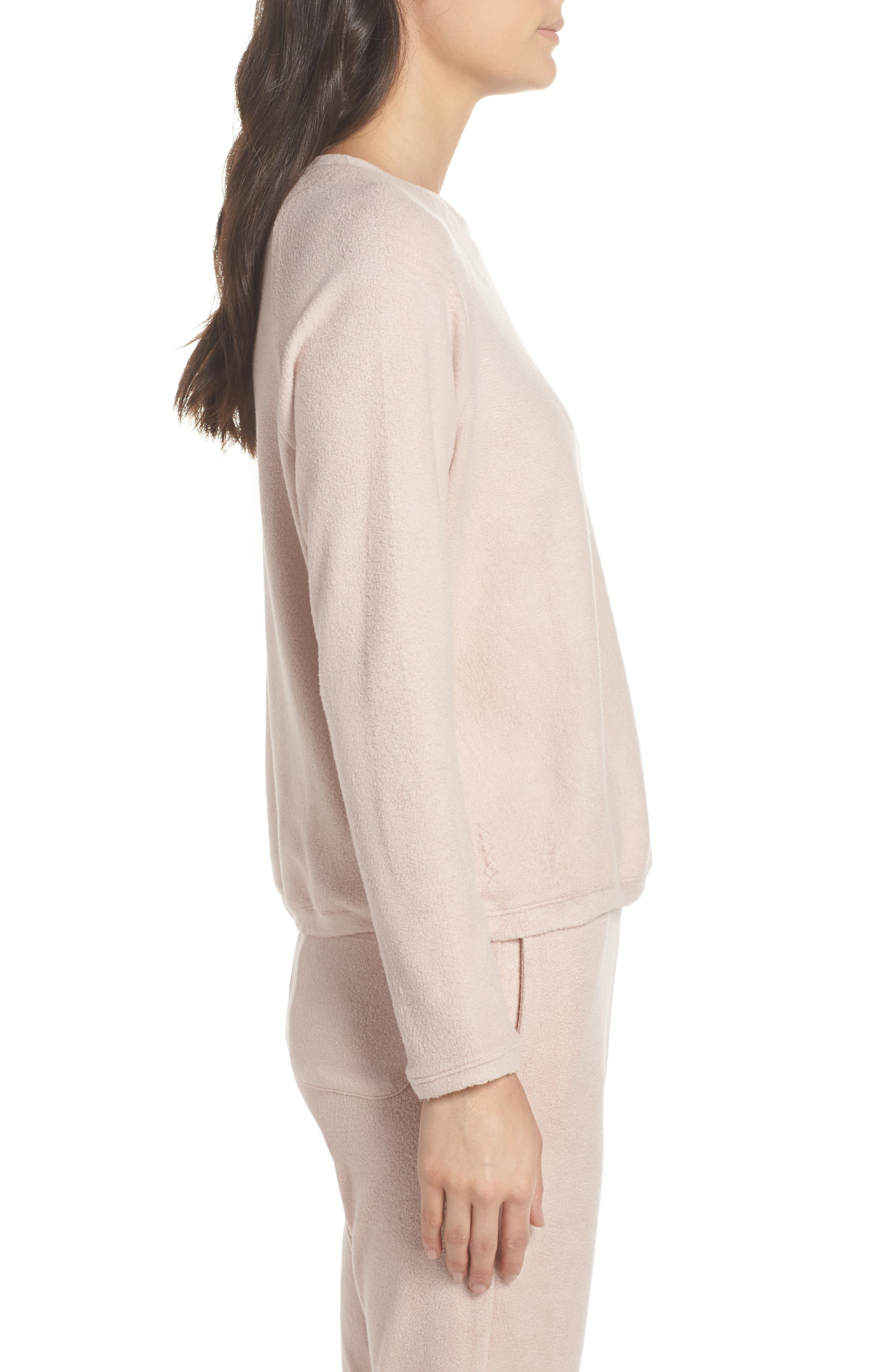 Slouchy Sweatshirt,                             Alternate thumbnail 3, color,                             Dusty Pink