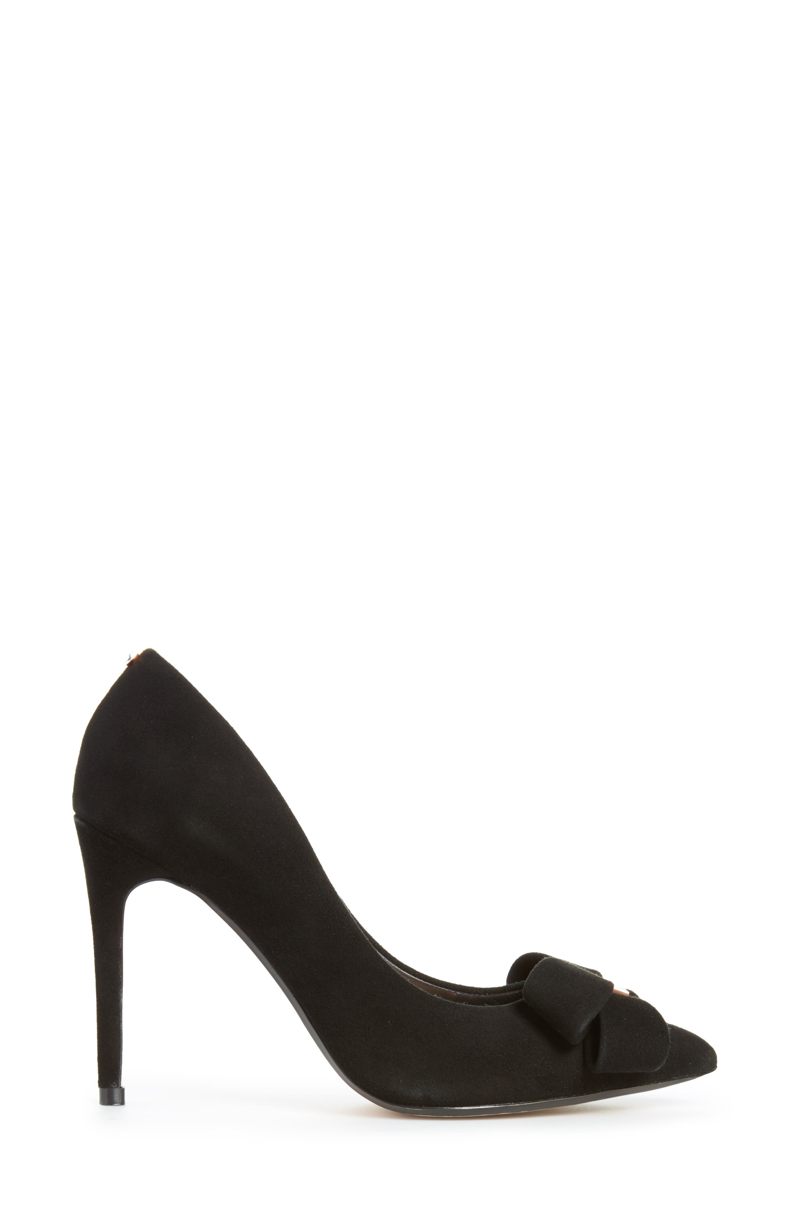 Skalett Pump,                             Alternate thumbnail 3, color,                             Black Suede