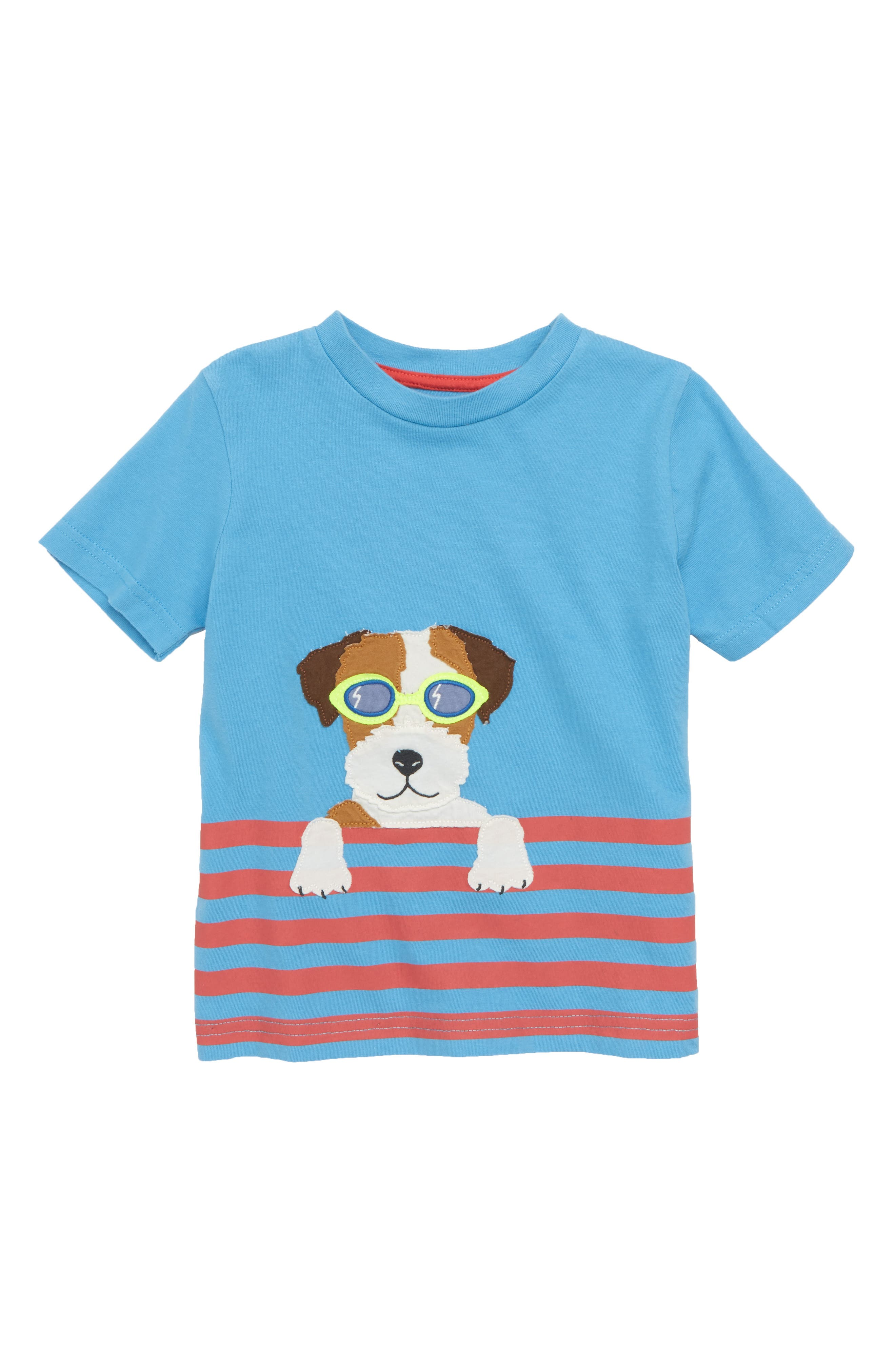 Paddling Pal Appliqué T-Shirt,                         Main,                         color, Surfboard Blue Swimming Sprout