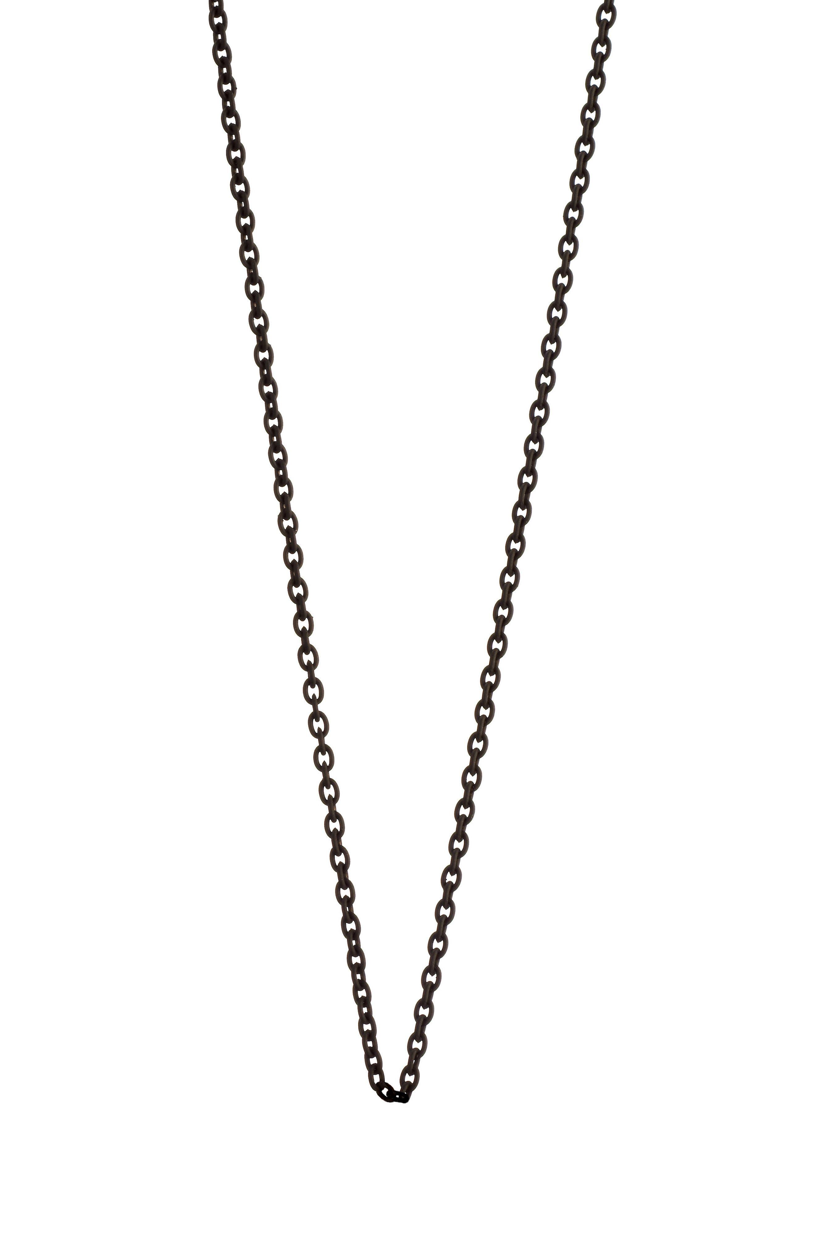 Delicate Black Steel Chain,                             Main thumbnail 1, color,                             Black Steel