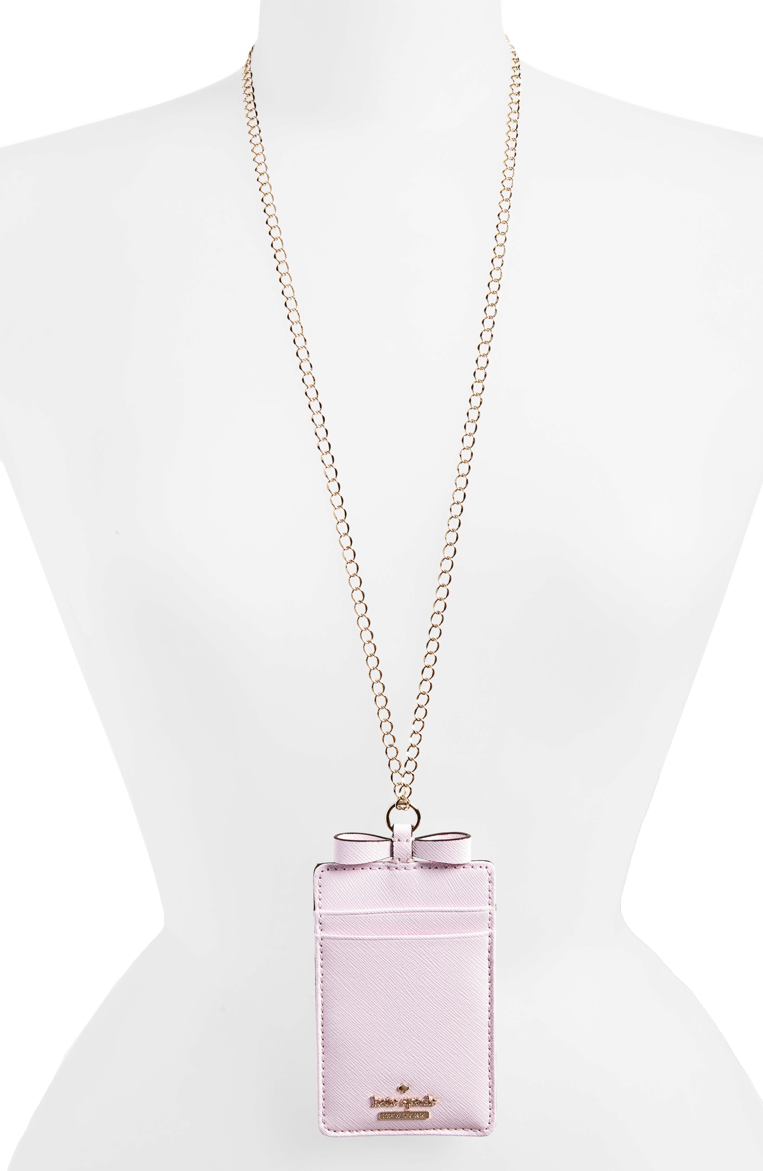 cameron street lanyard card holder,                         Main,                         color, Pink Lemonade