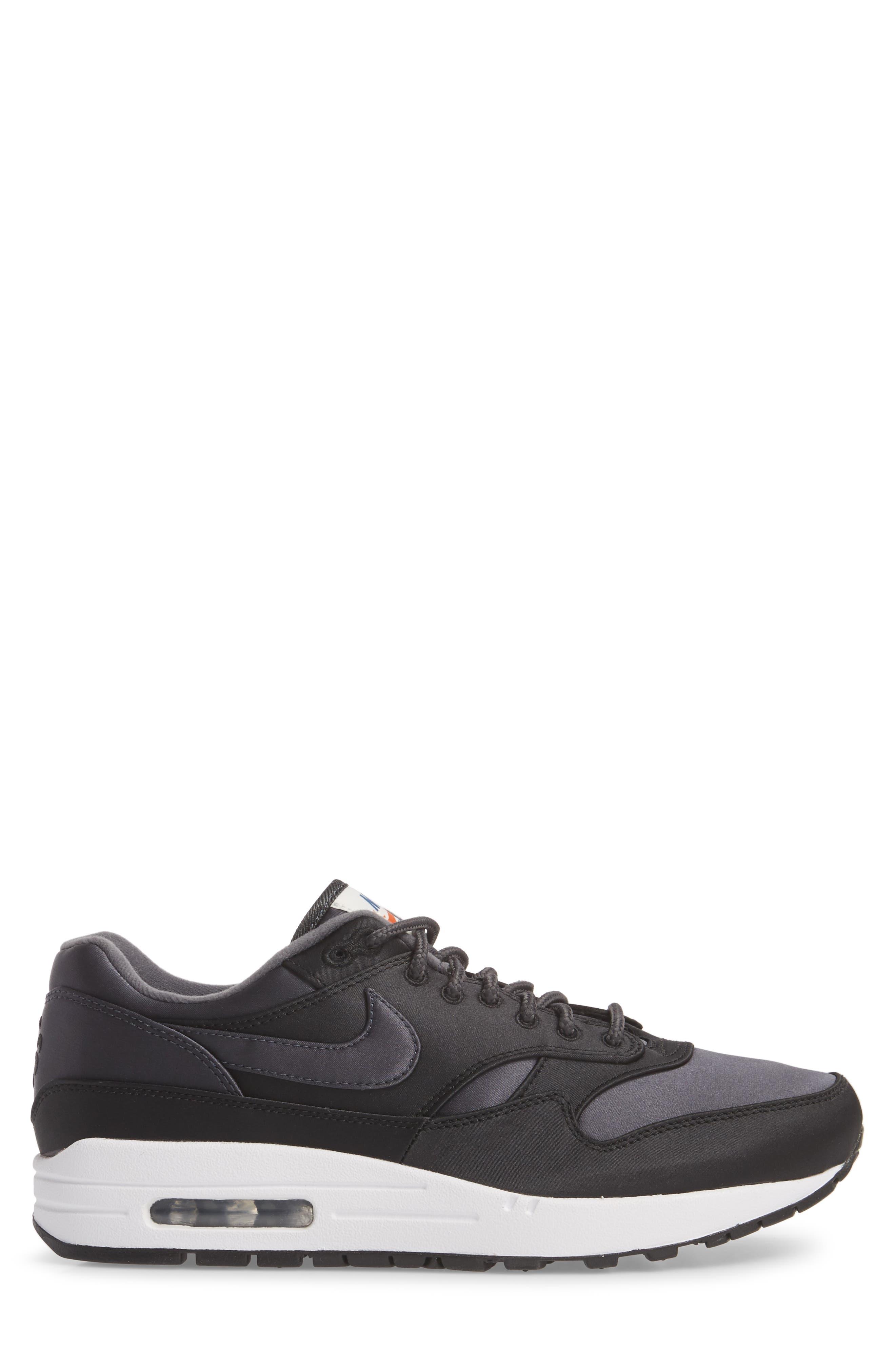 Air Max 1 SE Sneaker,                             Alternate thumbnail 3, color,                             Black/ Anthracite/ White