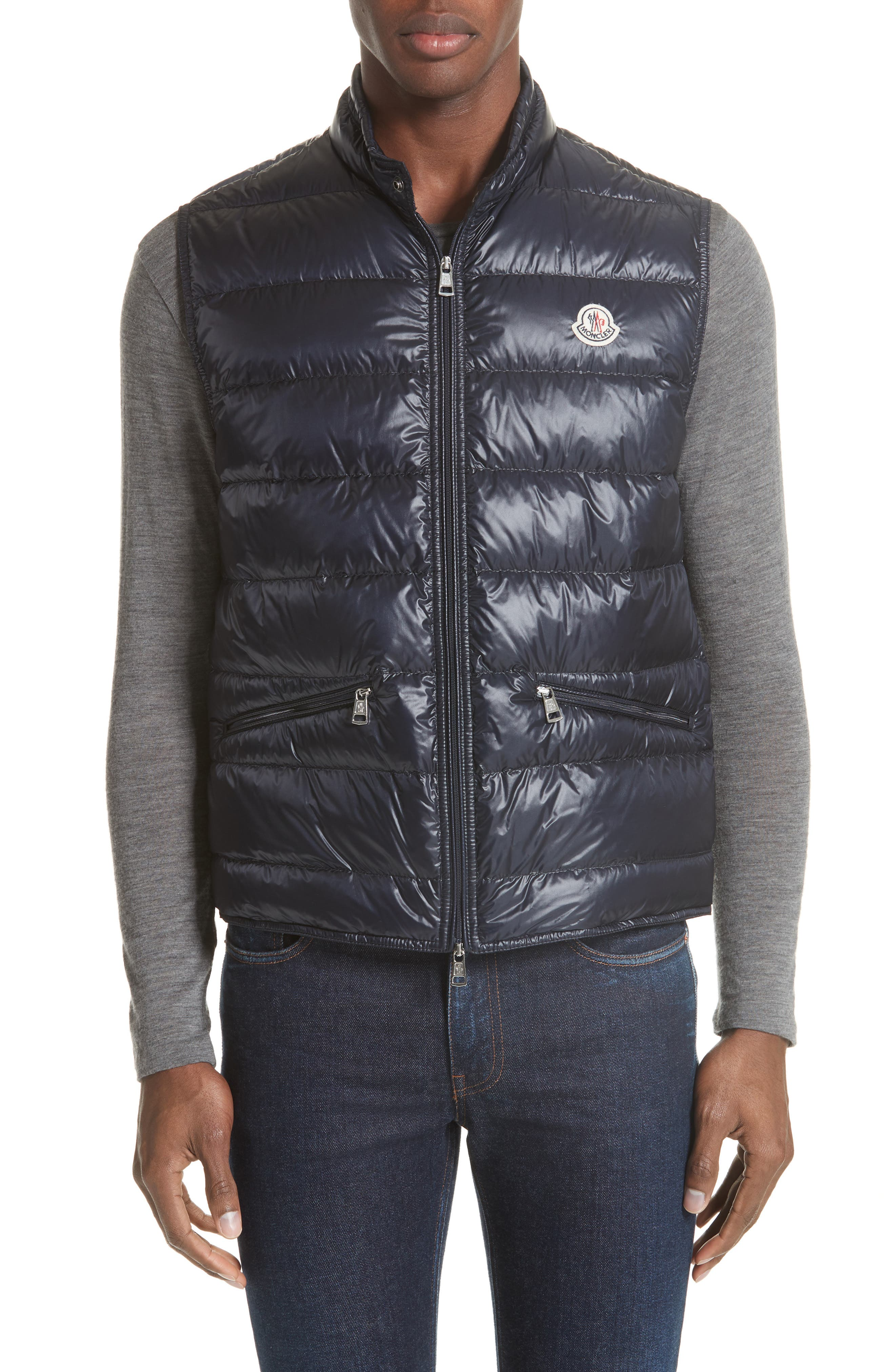 Gui Down Vest,                             Main thumbnail 1, color,                             Navy