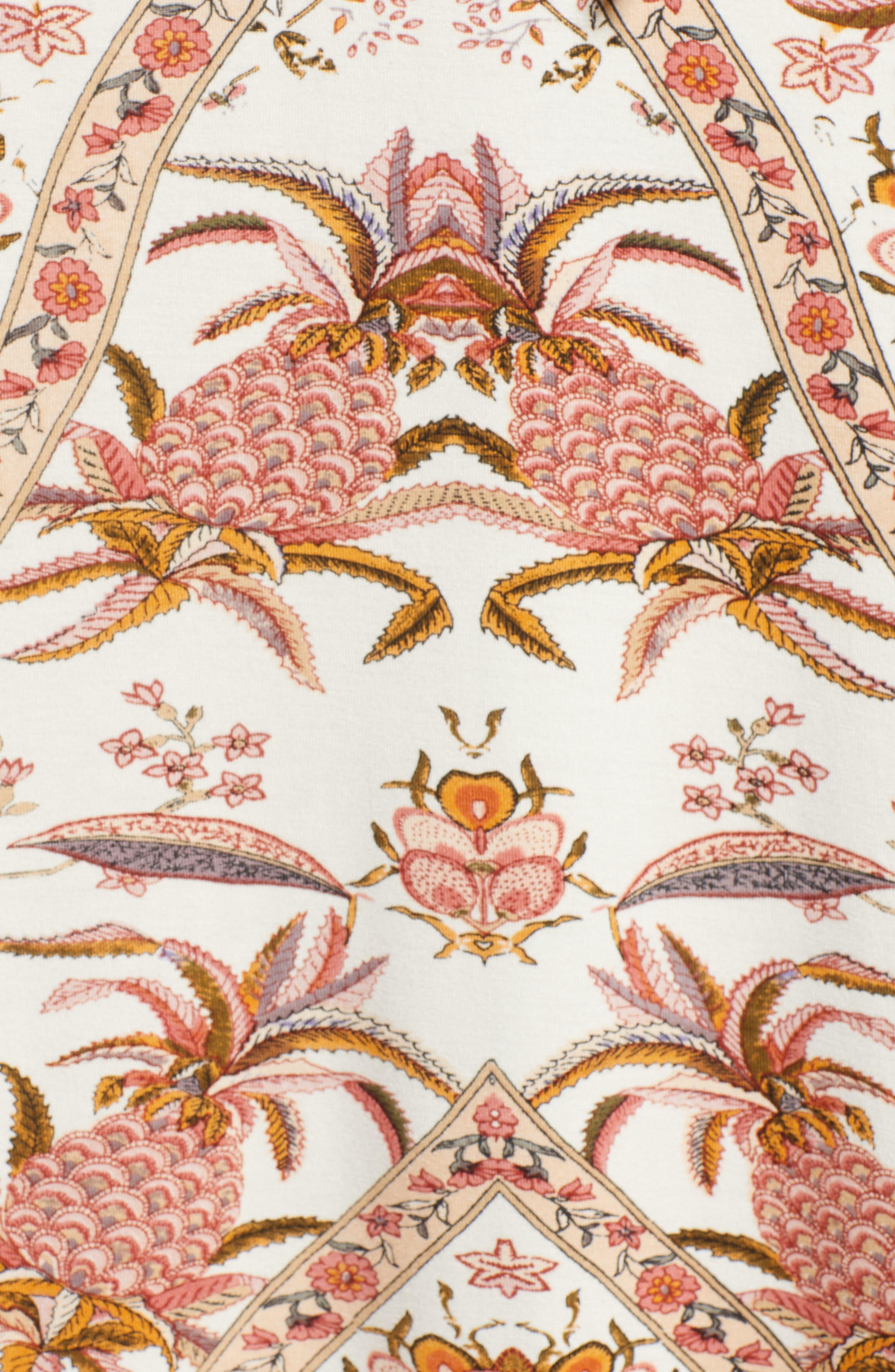V-Neck Print Maxi Dress,                             Alternate thumbnail 6, color,                             Pink Multi