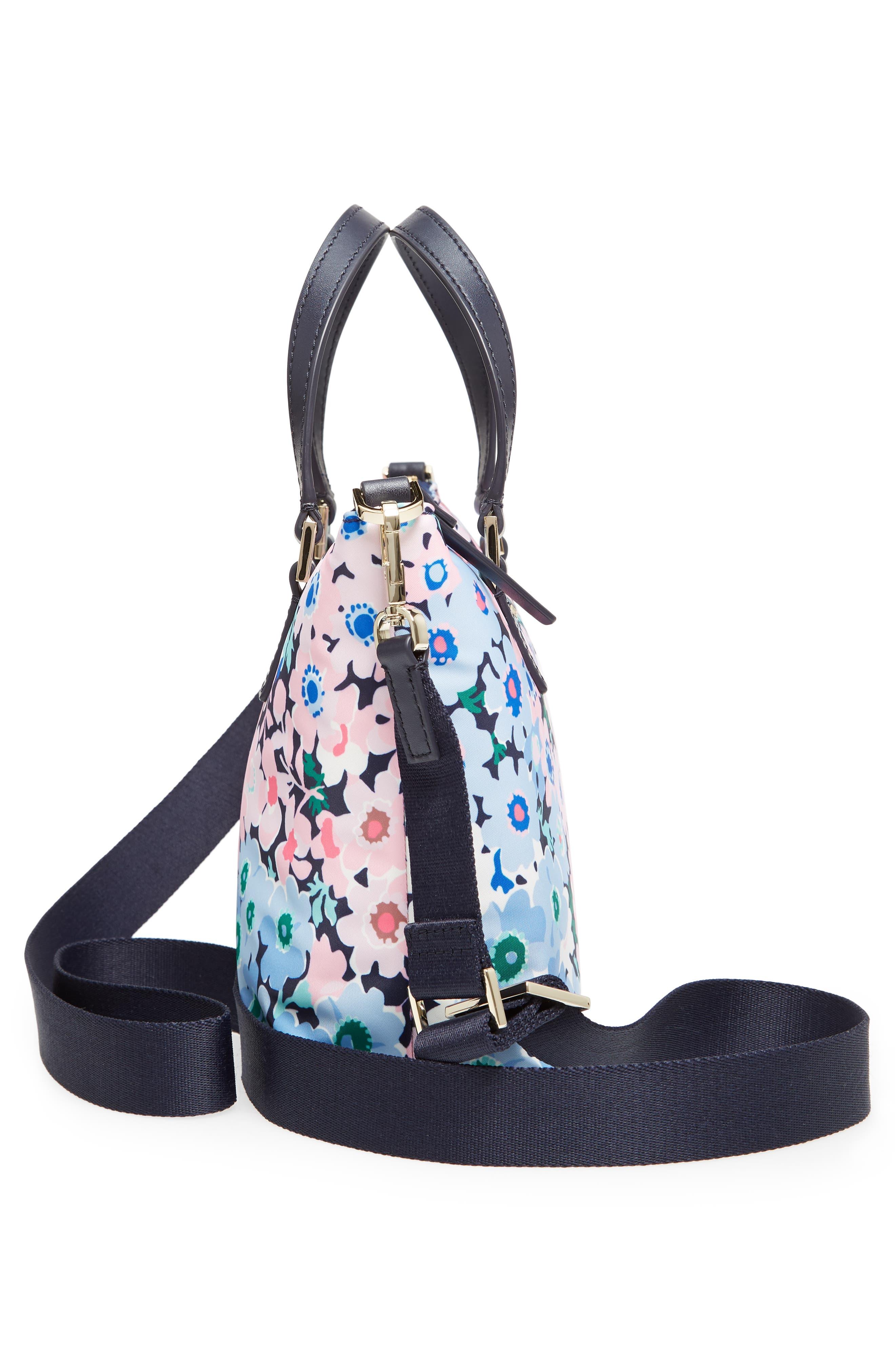 watson lane - daisy garden lucie crossbody bag,                             Alternate thumbnail 5, color,                             Blue Multi