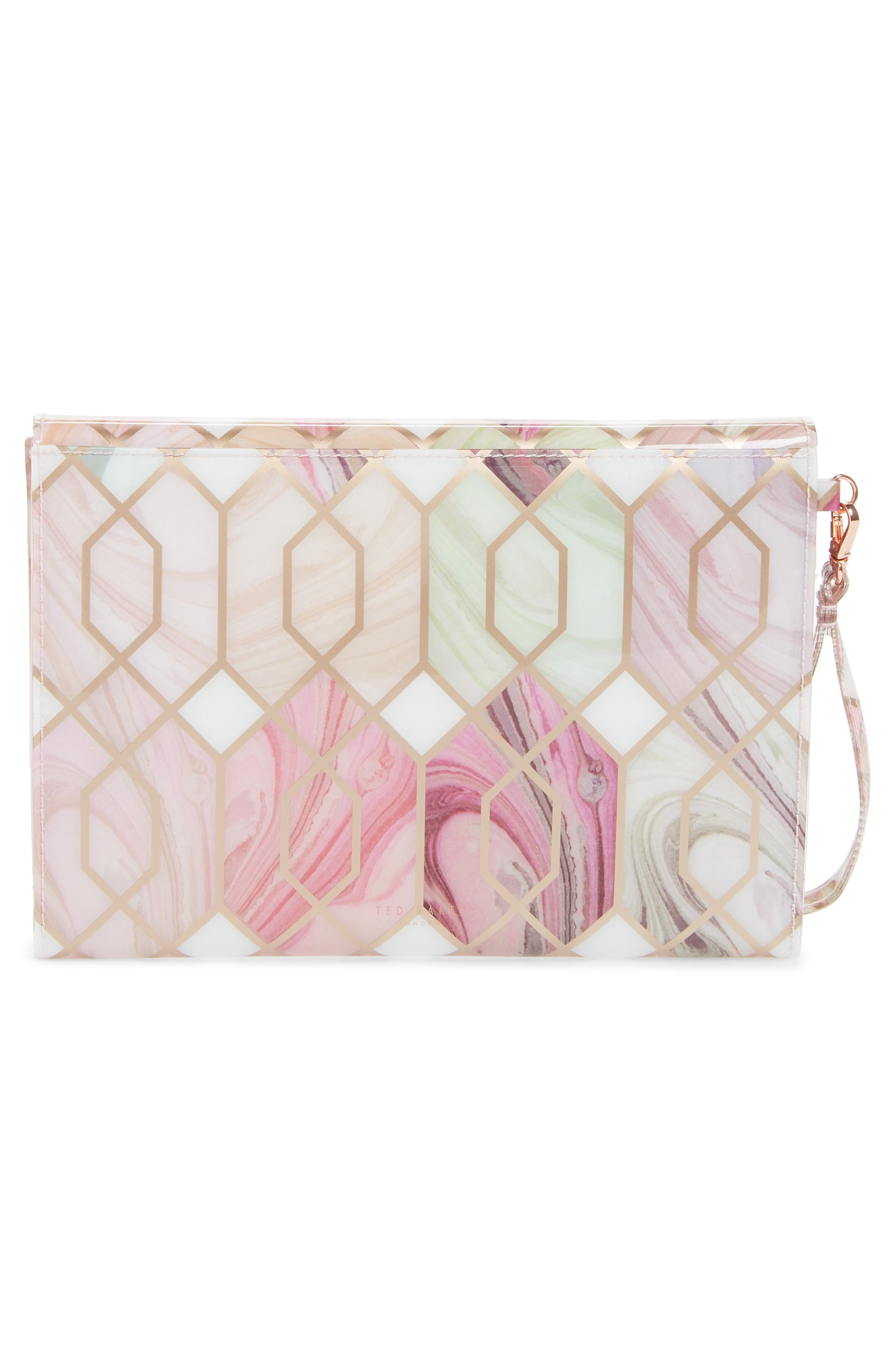 Sea of Clouds Envelope Clutch,                             Alternate thumbnail 3, color,                             White