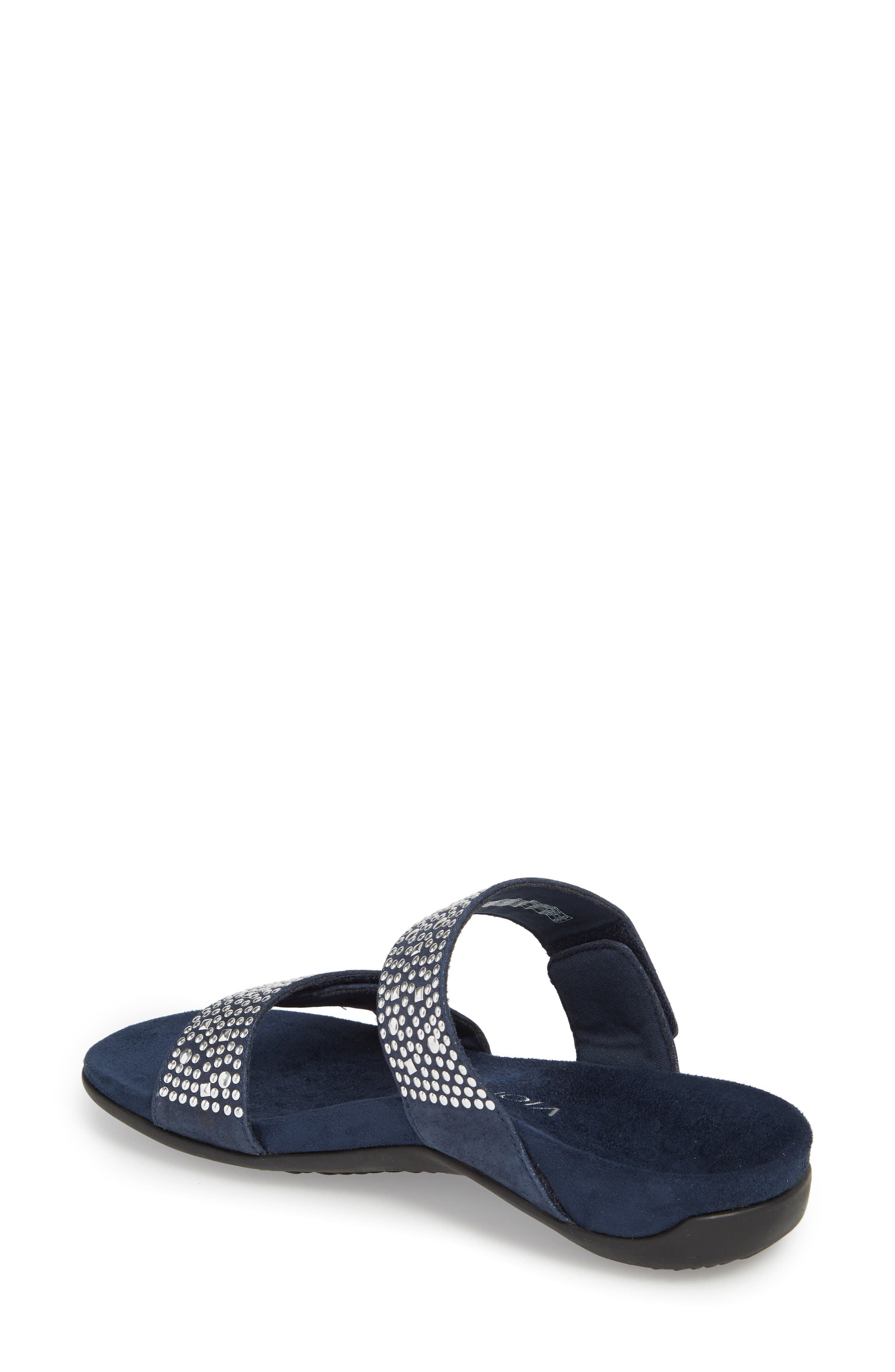 'Samoa' Sandal,                             Alternate thumbnail 2, color,                             Navy Suede