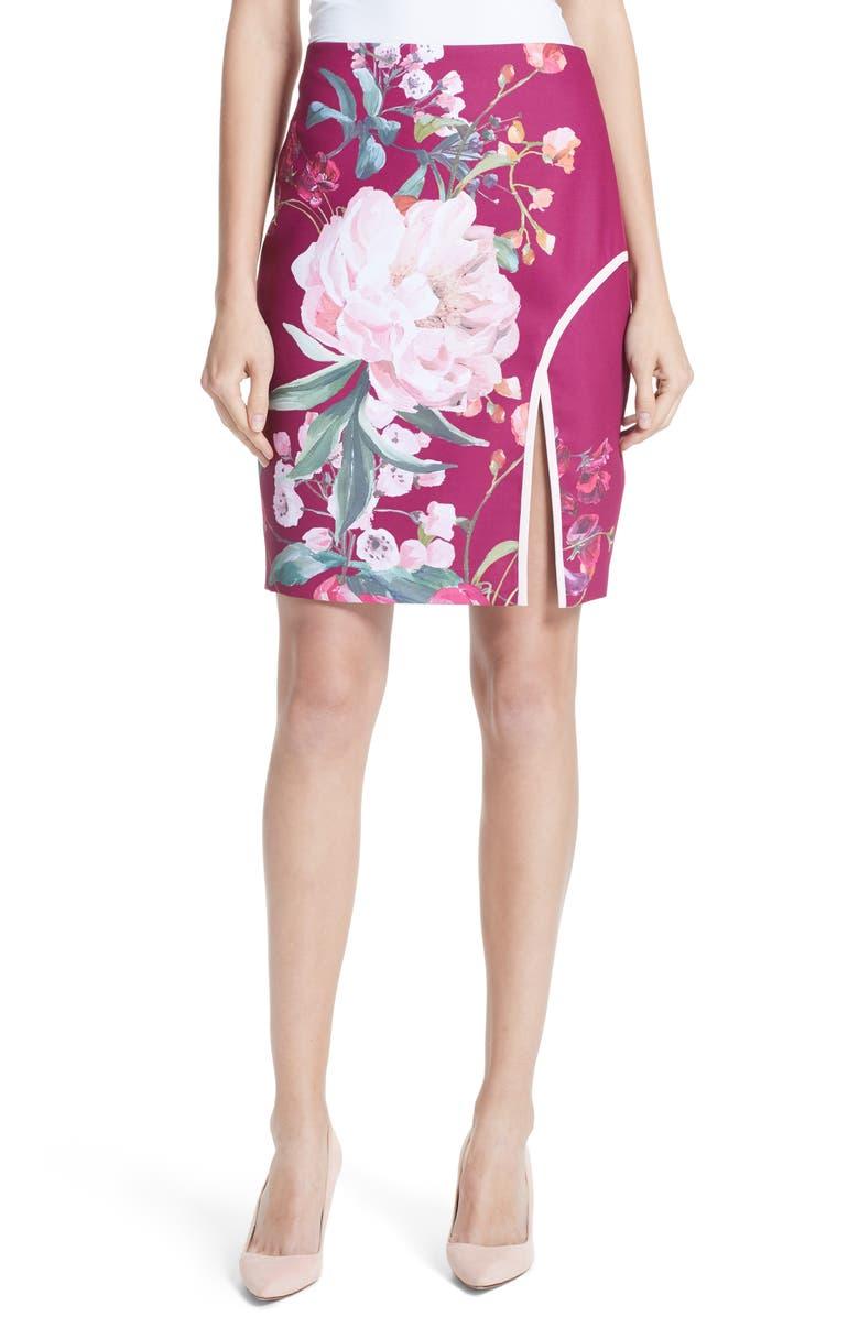 Kalena Serenity Side Slit Pencil Skirt