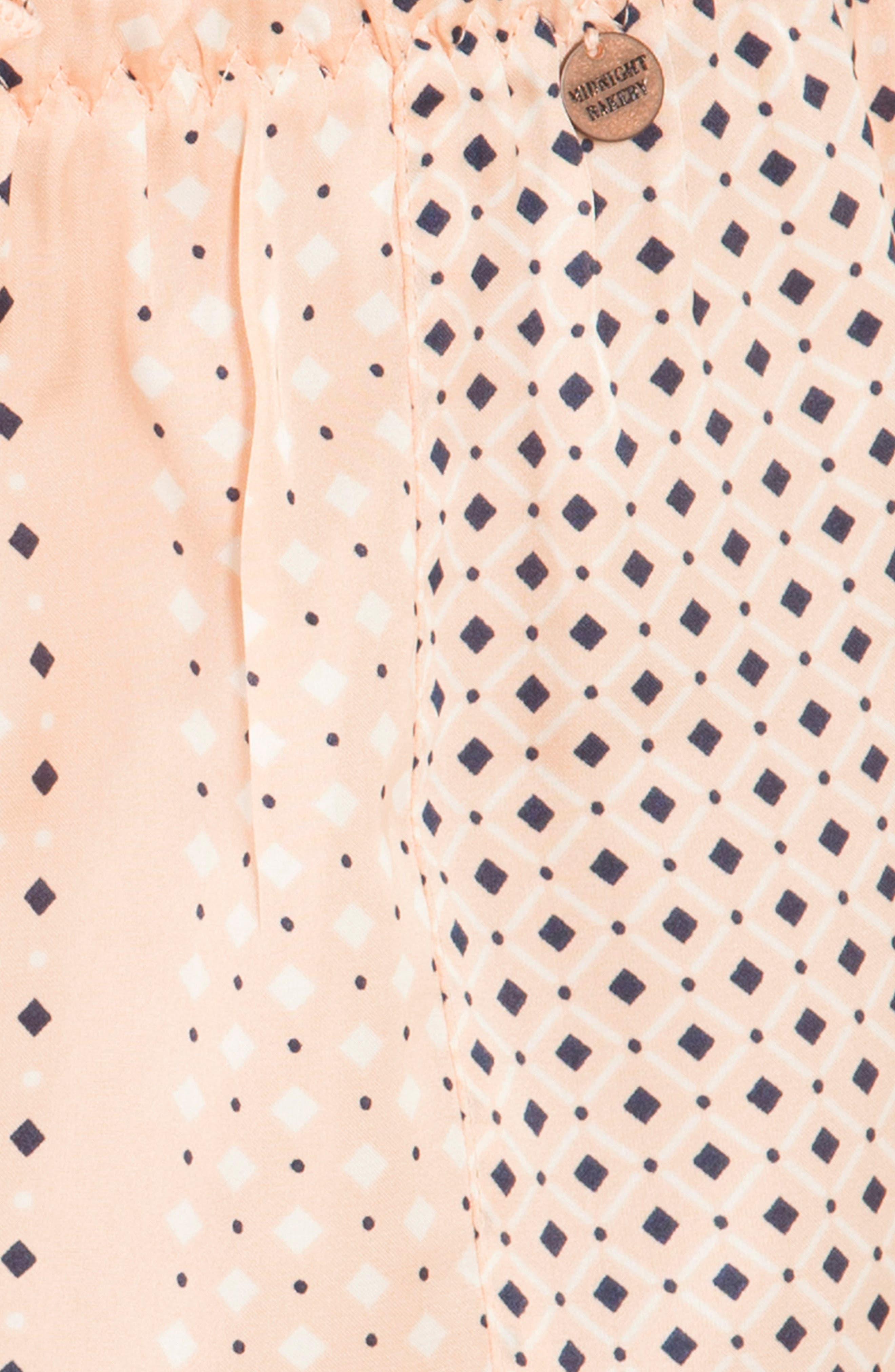 Stripe Pajama Shorts,                             Alternate thumbnail 4, color,                             Coral Geo
