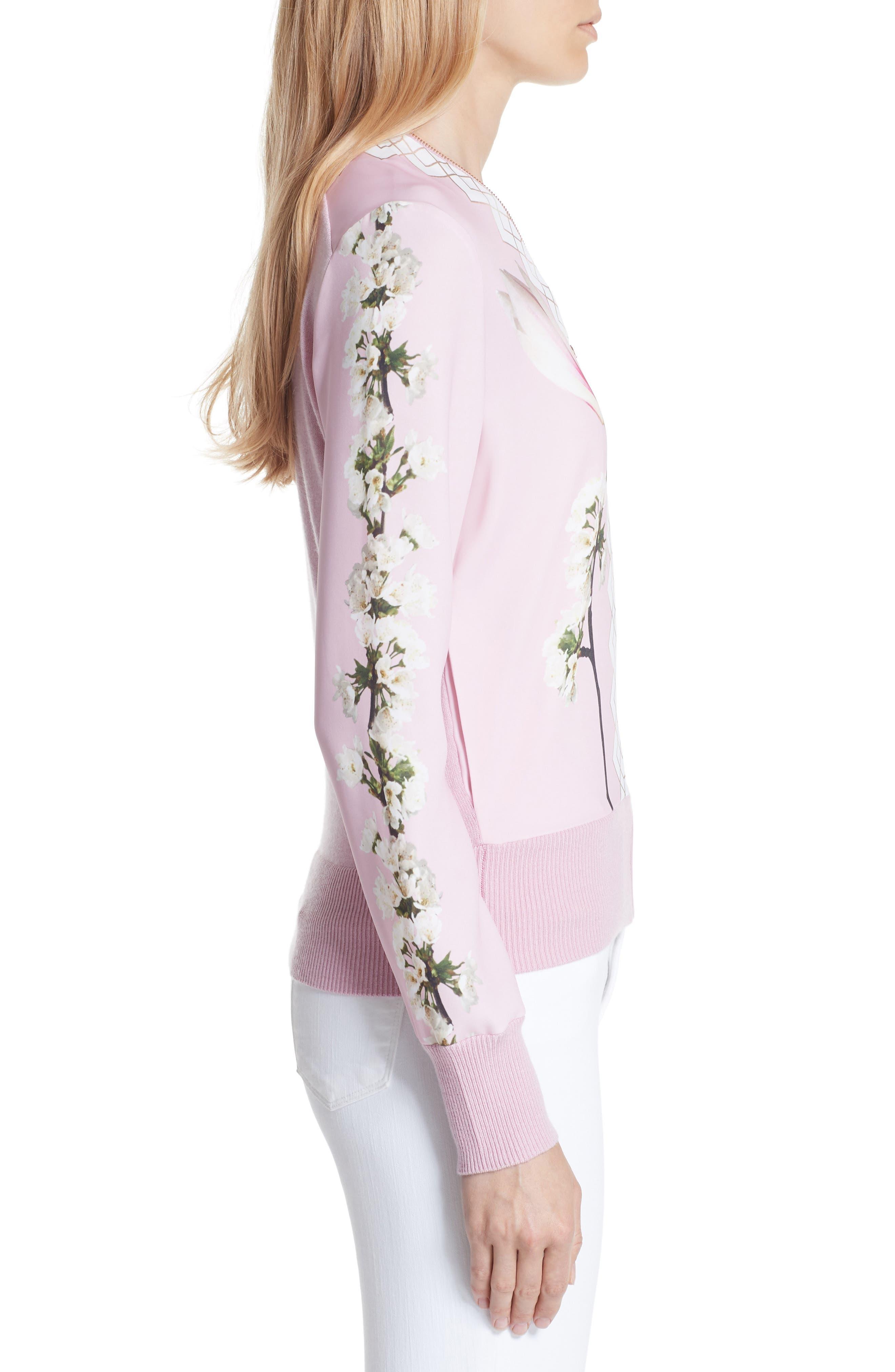 Emylou Harmony Bomber Jacket,                             Alternate thumbnail 5, color,                             Pale Pink