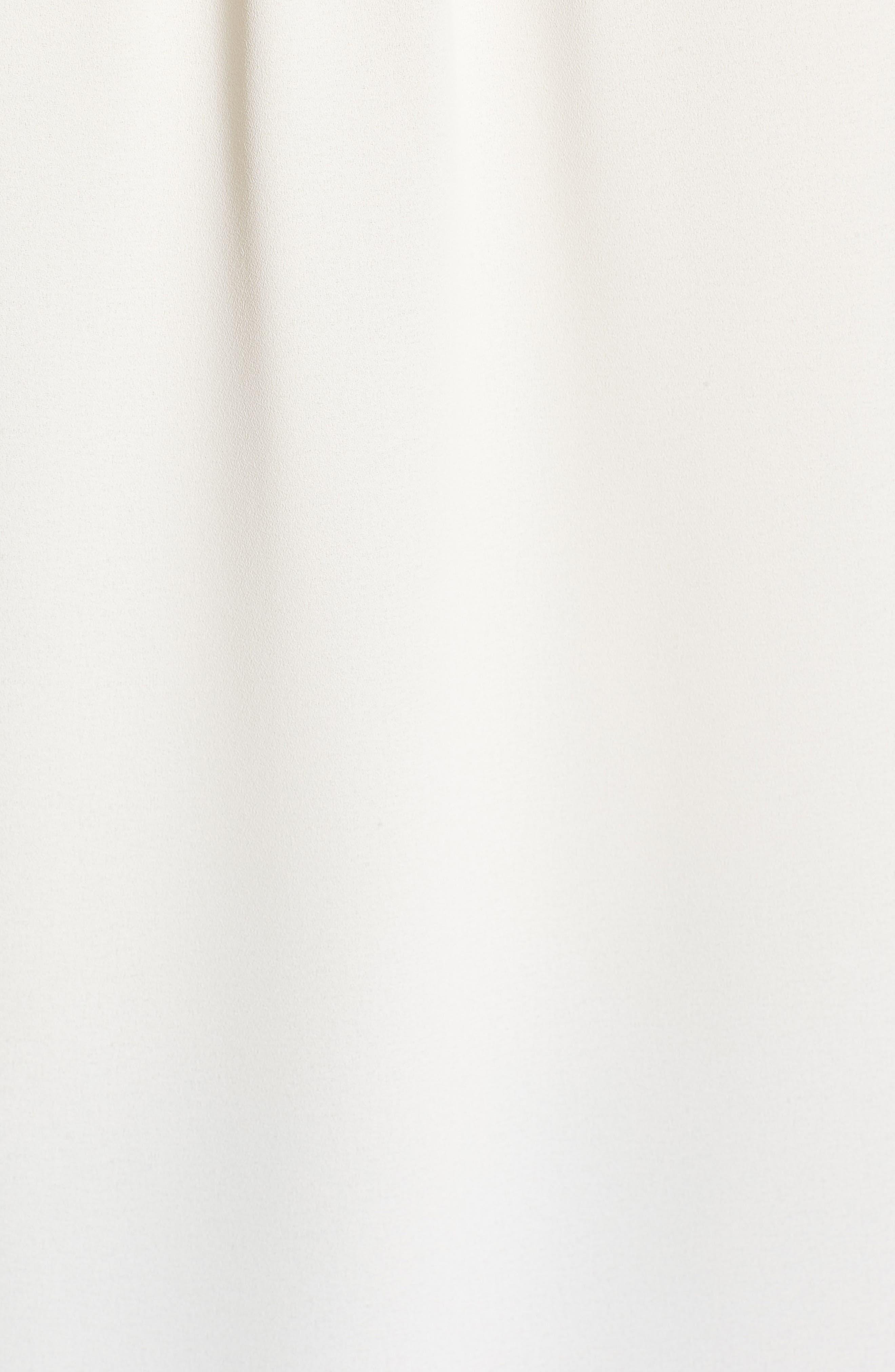Sleeveless Split Neck Crepe Top,                             Alternate thumbnail 5, color,                             White