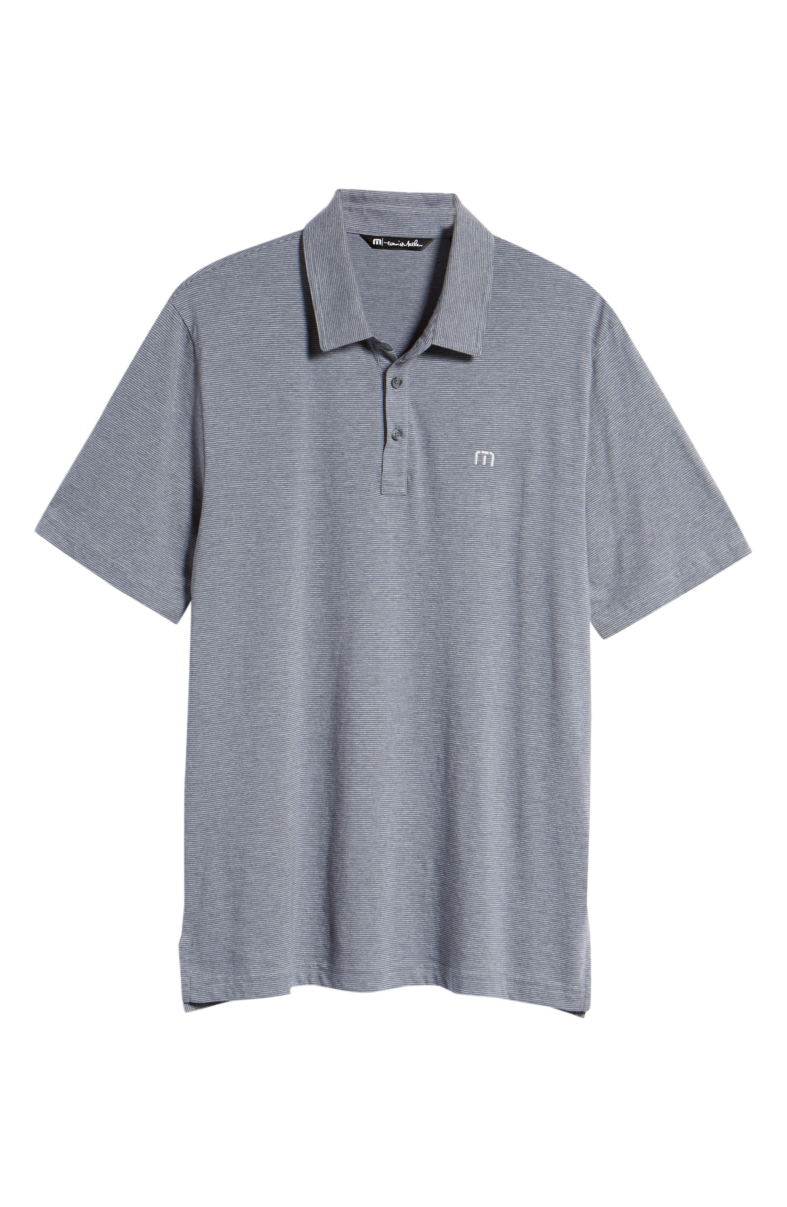 JQ Regular Fit Stripe Polo,                             Alternate thumbnail 6, color,                             Heather Grisaille