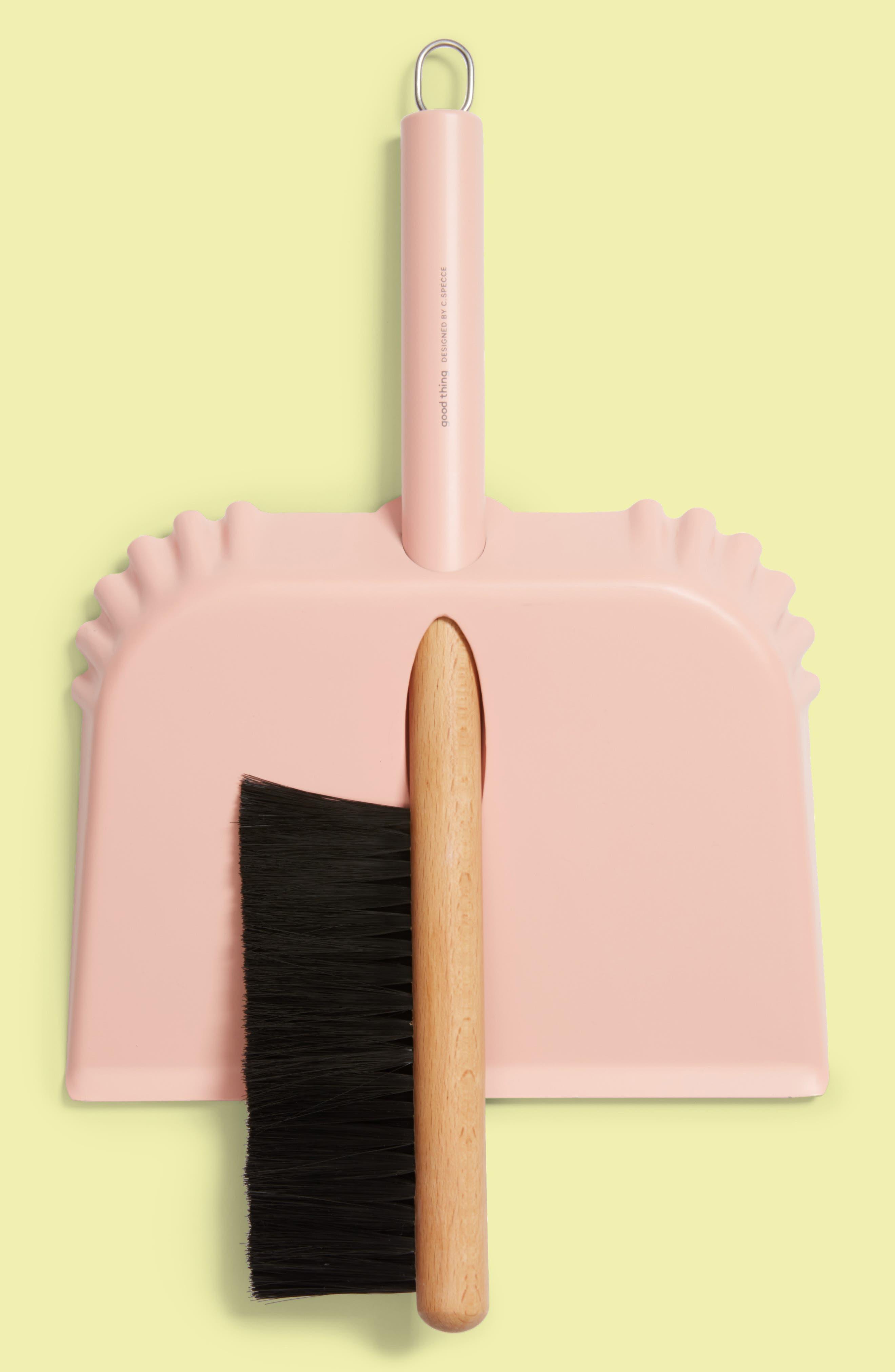 Richman Dustpan & Brush Set,                             Main thumbnail 1, color,                             Pink