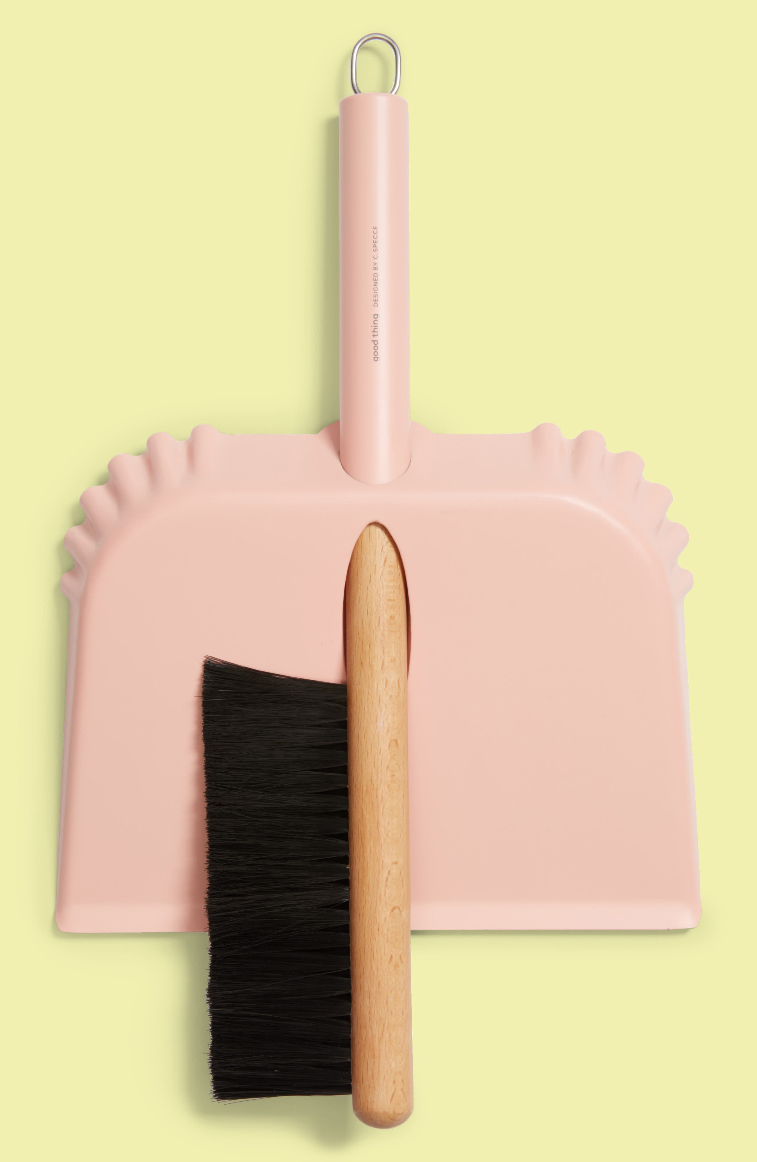 Richman Dustpan & Brush Set,                         Main,                         color, Pink