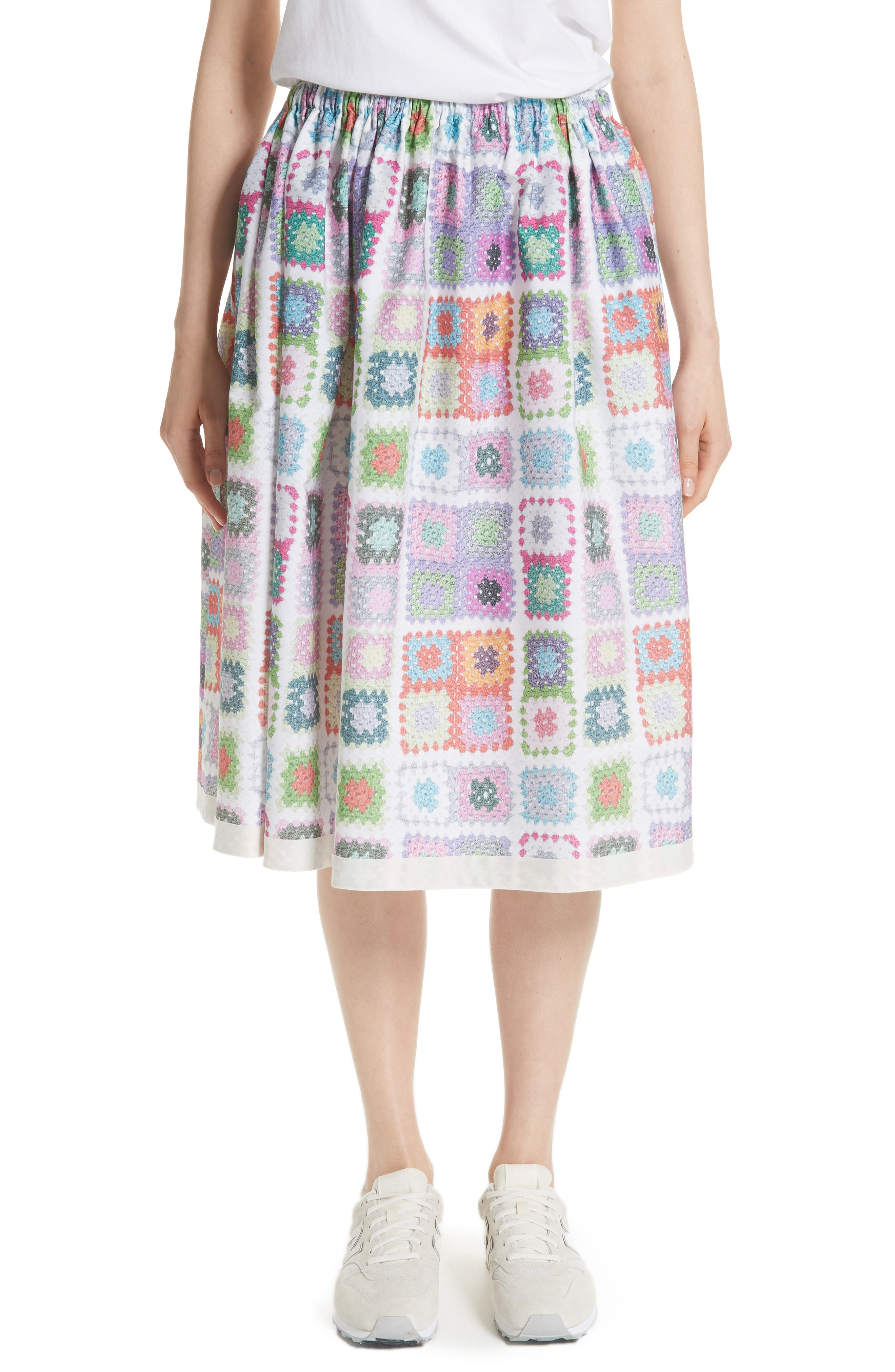 Tricot Comme des Garçons Crochet Print Skirt