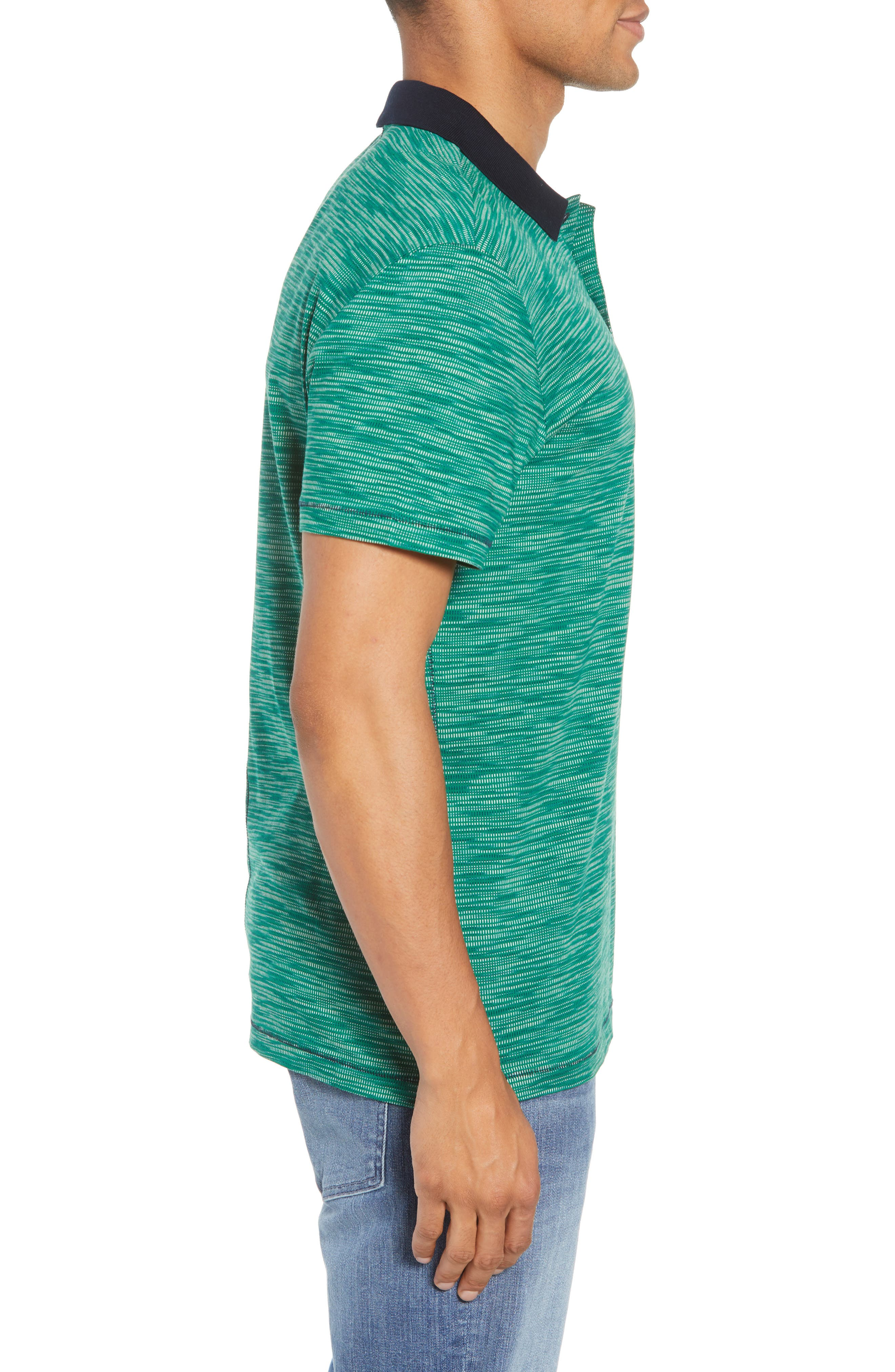 Tay Street Regular Fit Polo,                             Alternate thumbnail 3, color,                             Emerald