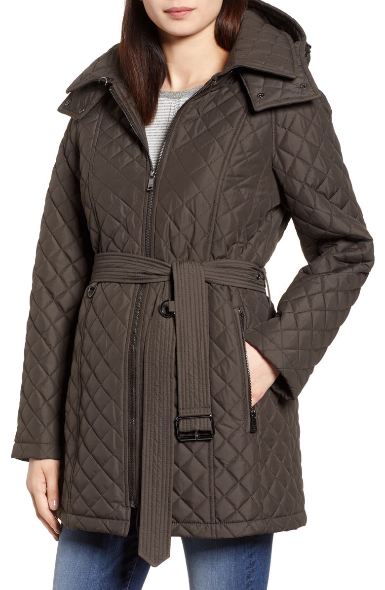Heritage Diamond Quilted Hooded Jacket