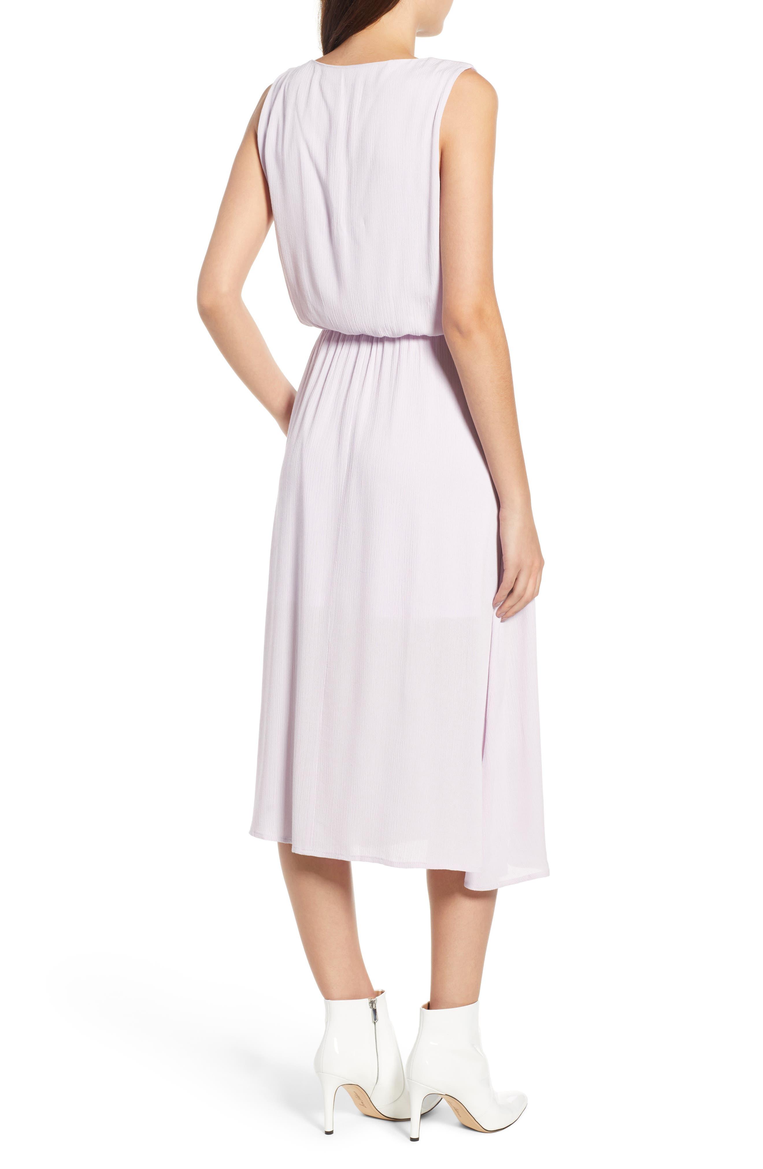 Sleeveless Blouson Midi Dress,                             Alternate thumbnail 2, color,                             Purple Moss