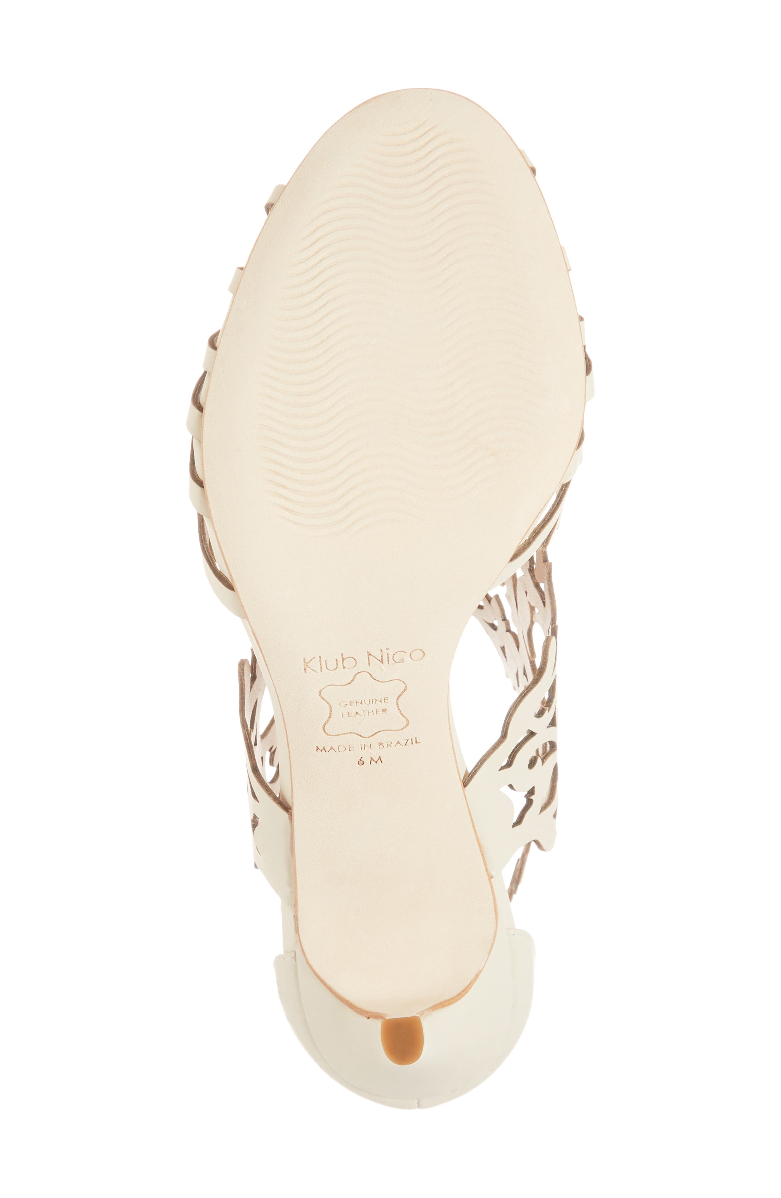 Marcela 3 Laser Cutout Sandal,                             Alternate thumbnail 6, color,                             Ivory Leather