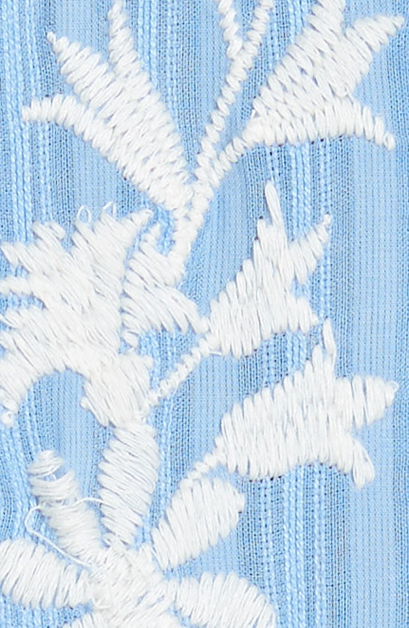 Gabriella Cotton Shift Dress,                             Alternate thumbnail 3, color,                             Blue Dusk