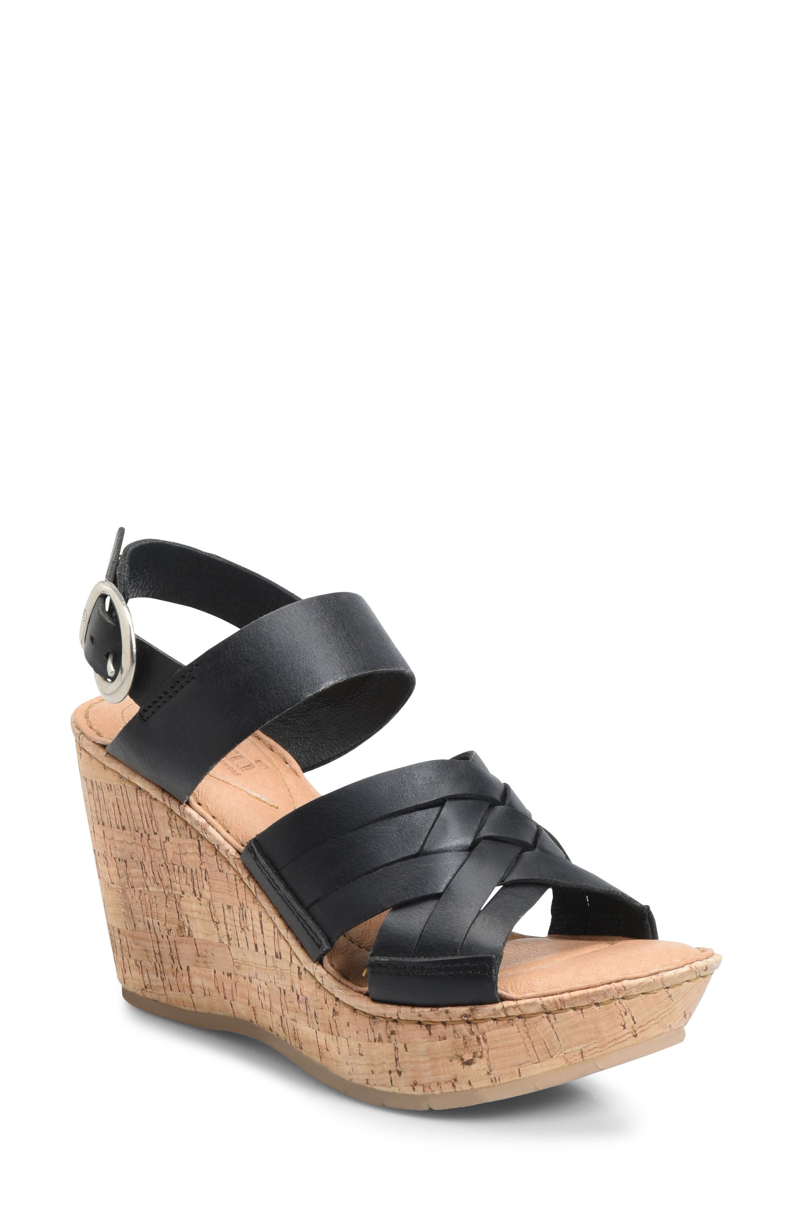 Wedges for Women On Sale, Black, Black, 2017, 3.5 Guess