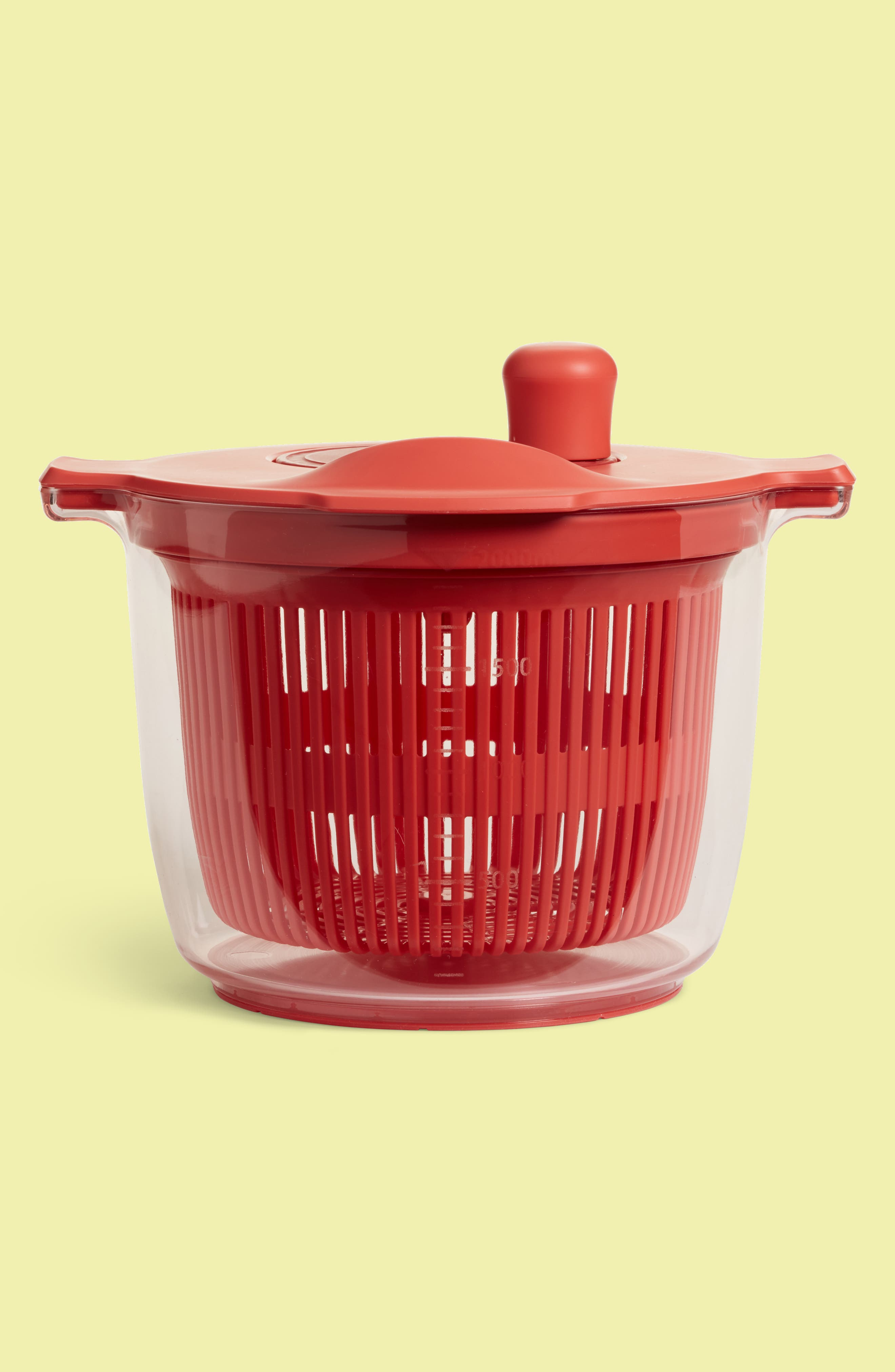 Salad Spinner,                             Main thumbnail 1, color,                             Red