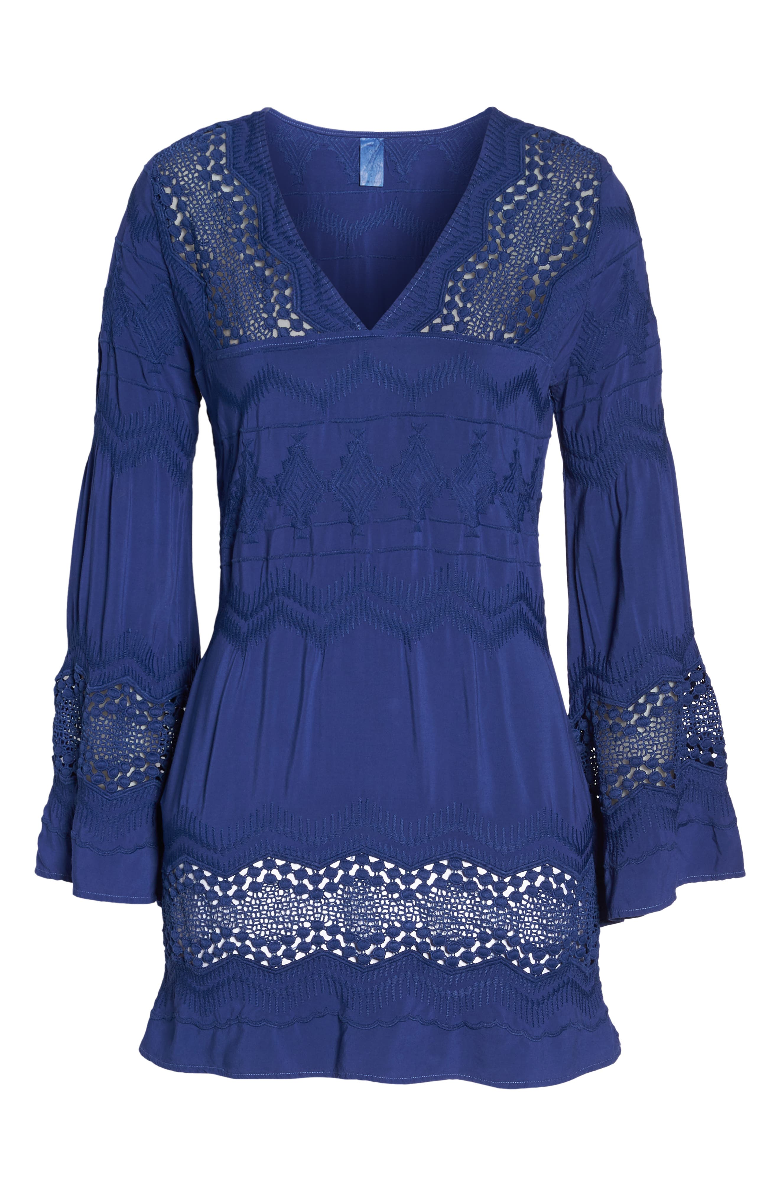 Cover-Up Tunic,                             Alternate thumbnail 6, color,                             Midnight