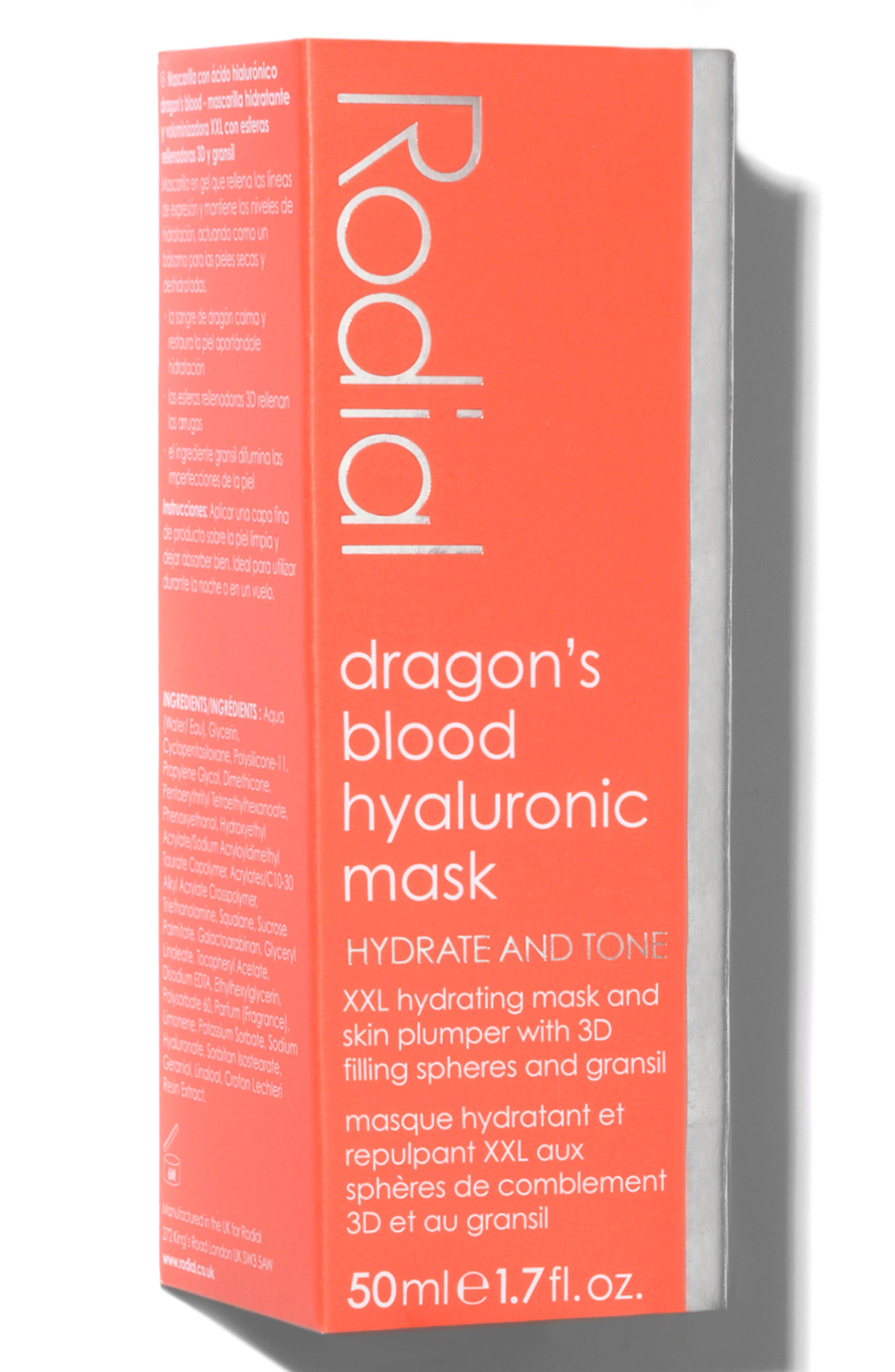 SPACE.NK.apothecary Rodial Dragon's Blood Hyaluronic Mask,                             Alternate thumbnail 4, color,                             No Color