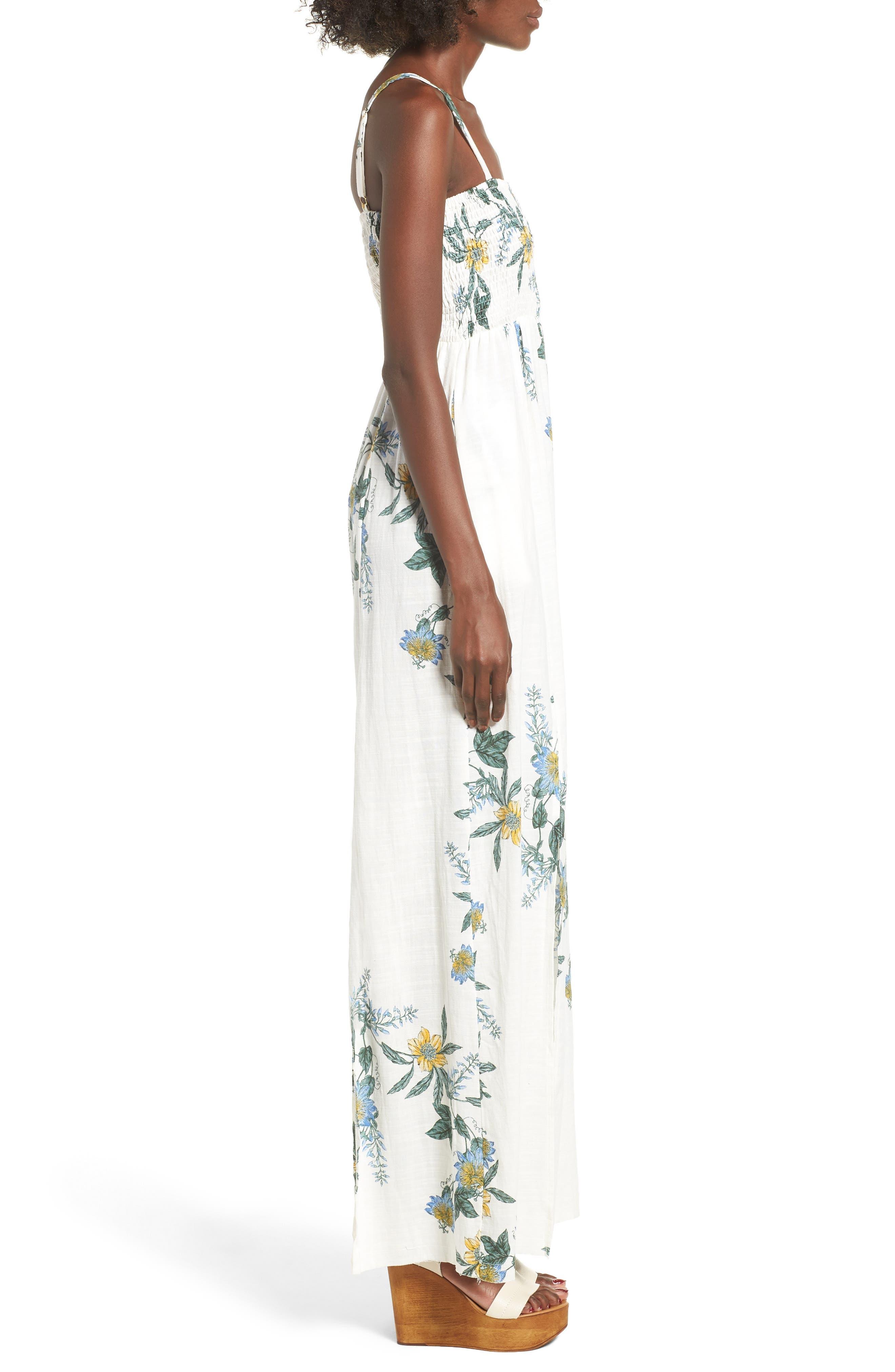 Luscious Lands Slit Hem Maxi Dress,                             Alternate thumbnail 3, color,                             Multi