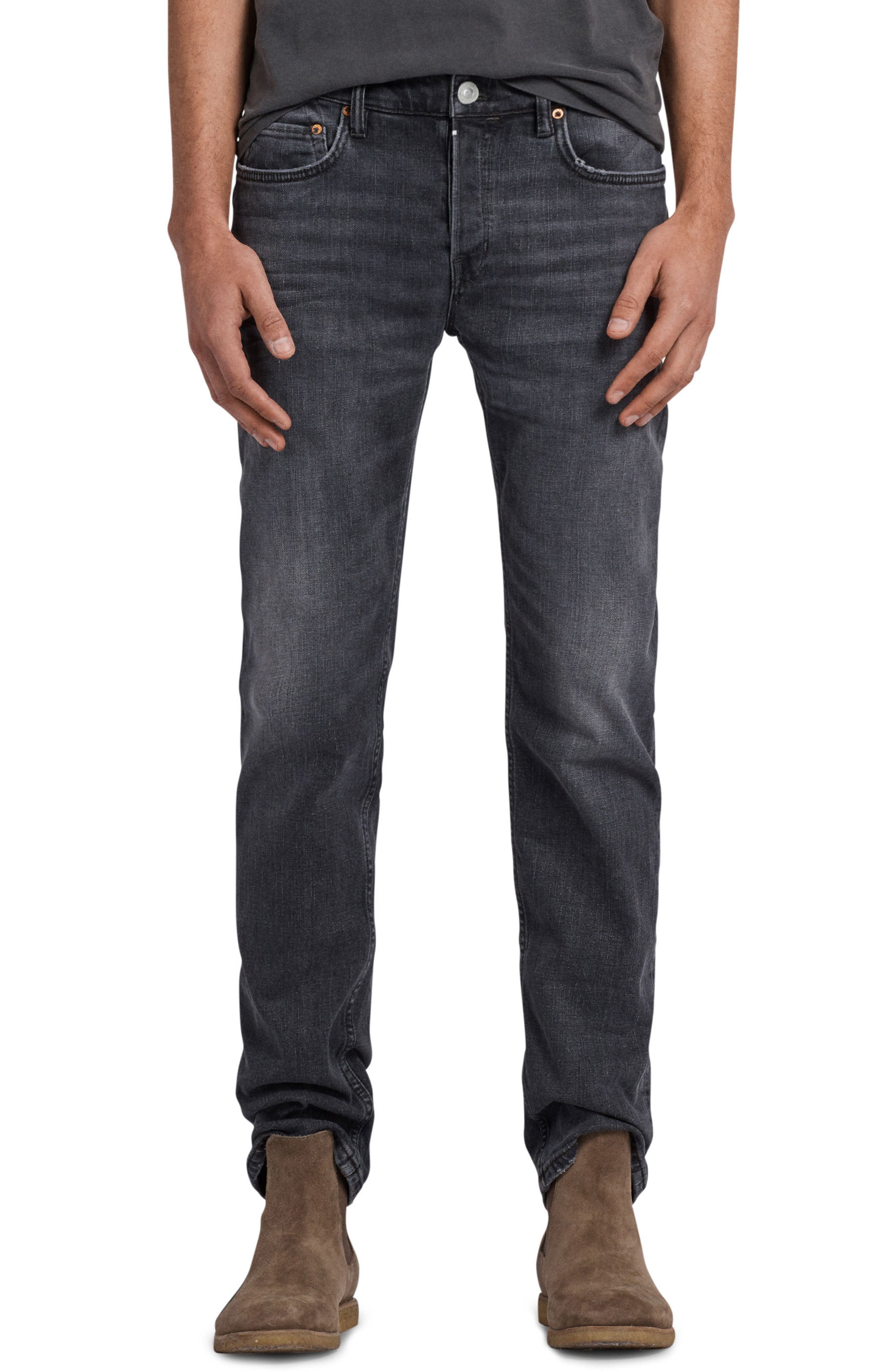 Graine Reed Regular Fit Jeans,                             Main thumbnail 1, color,                             Grey