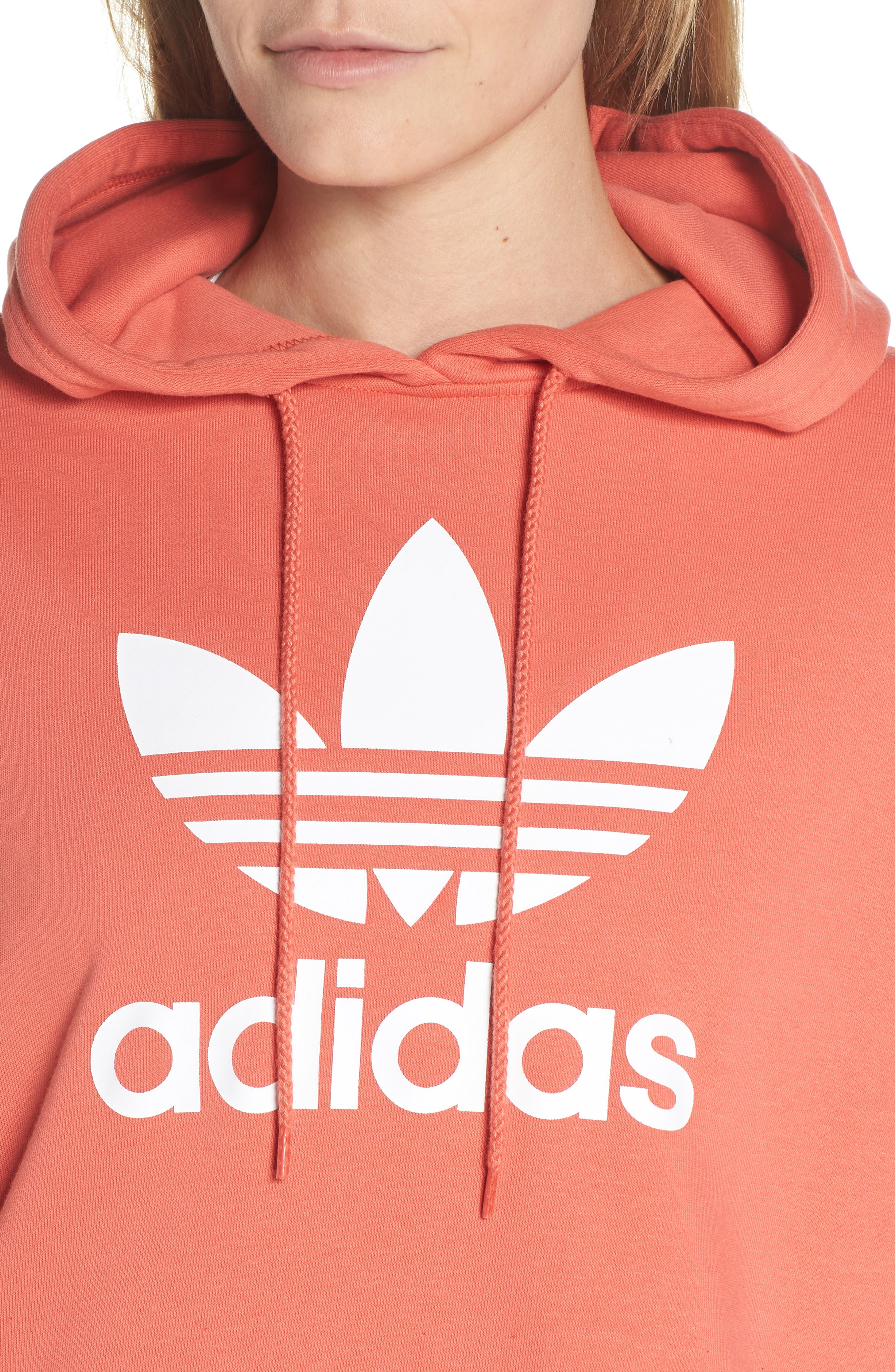 Active Icons Cropped Hoodie,                             Alternate thumbnail 4, color,                             Trace Scarlet