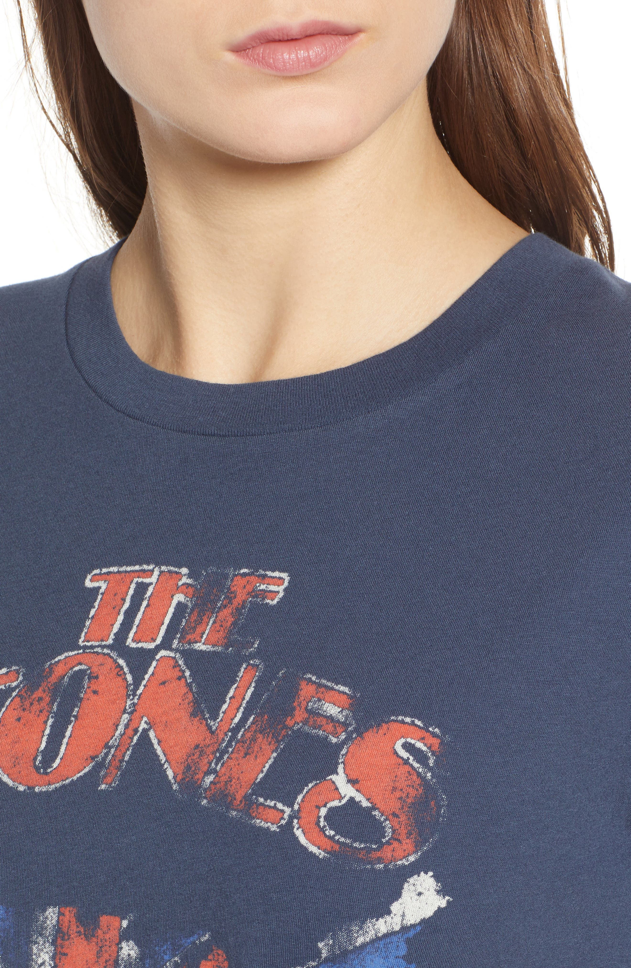 The Stones Graphic Tee,                             Alternate thumbnail 4, color,                             Navy Blue Combo
