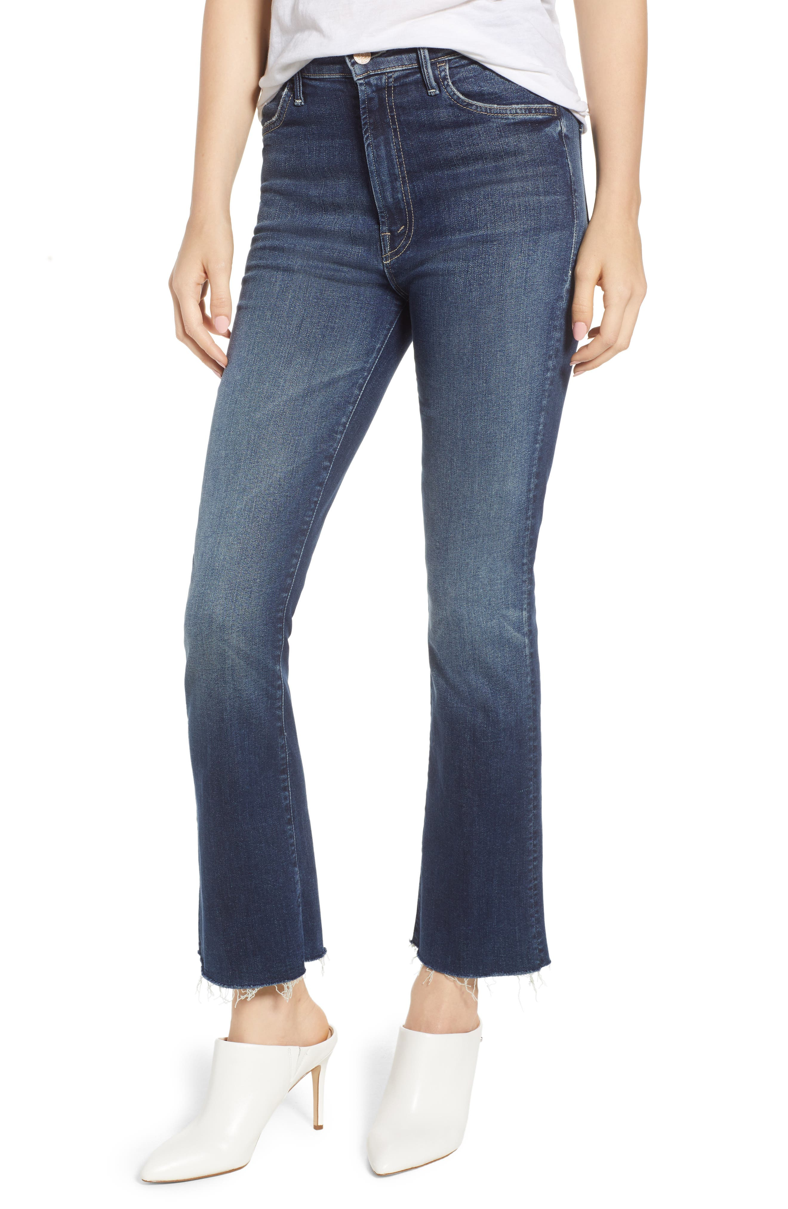The Hustler Fray Ankle Bootcut Jeans,                         Main,                         color, On The Edge