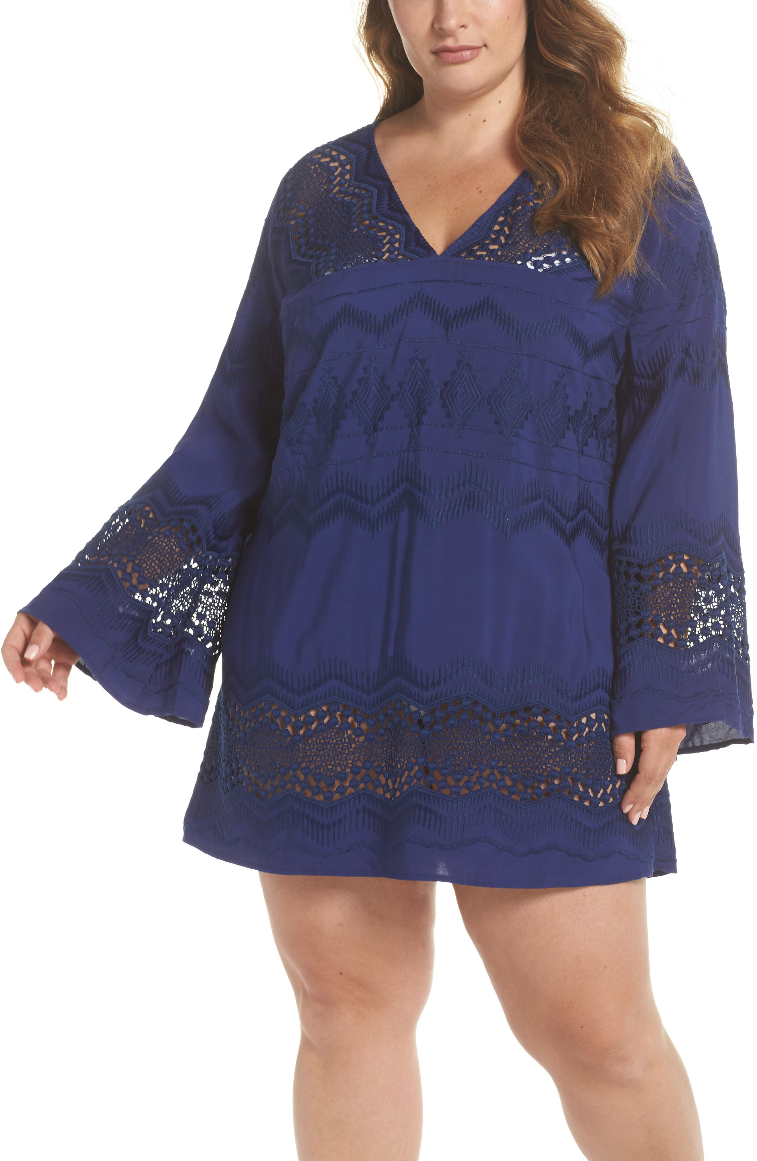 Cover-Up Tunic,                             Main thumbnail 1, color,                             Midnight